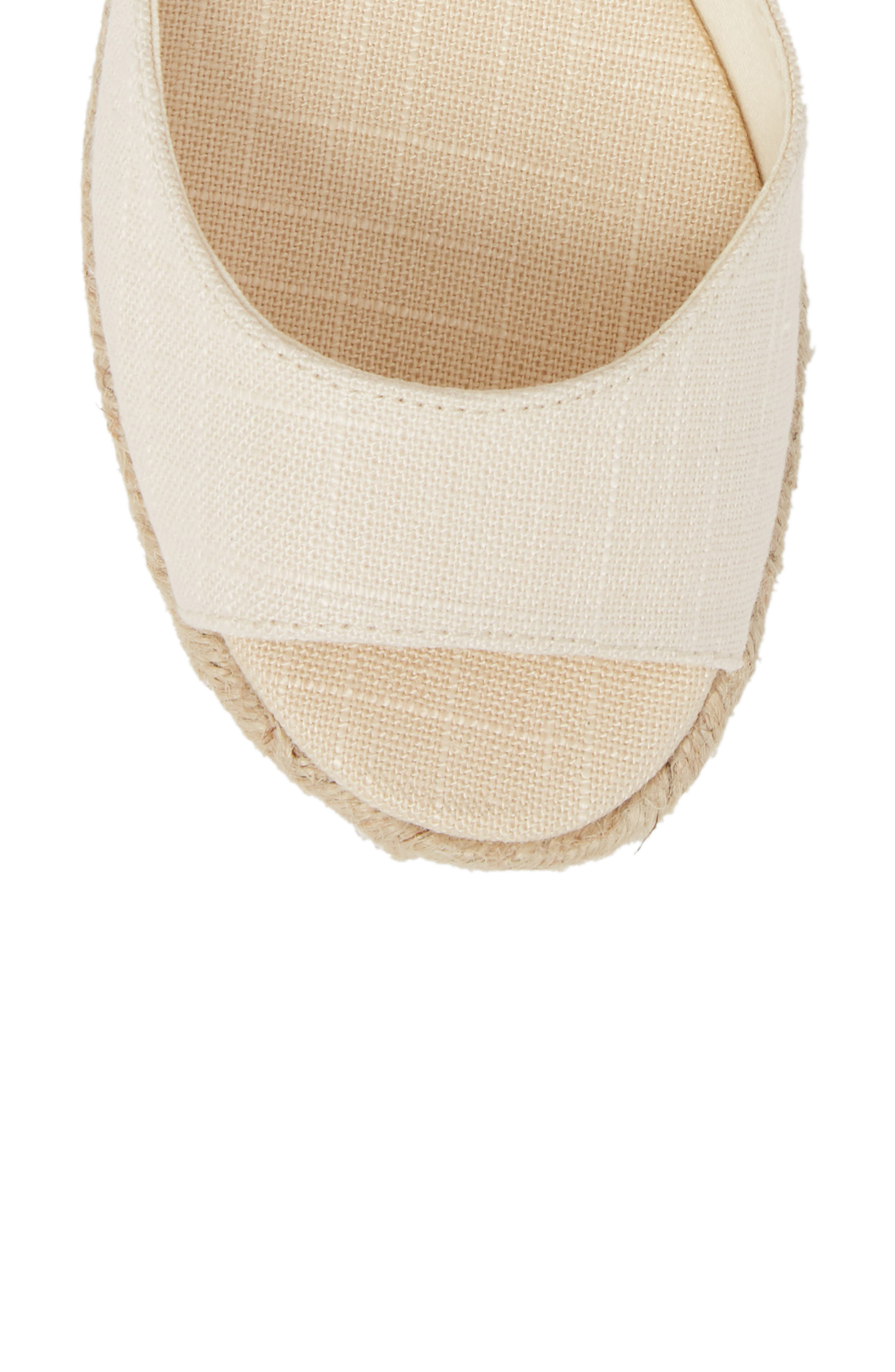 Espadrille Platform Sandal,                             Alternate thumbnail 5, color,                             BLUSH FABRIC