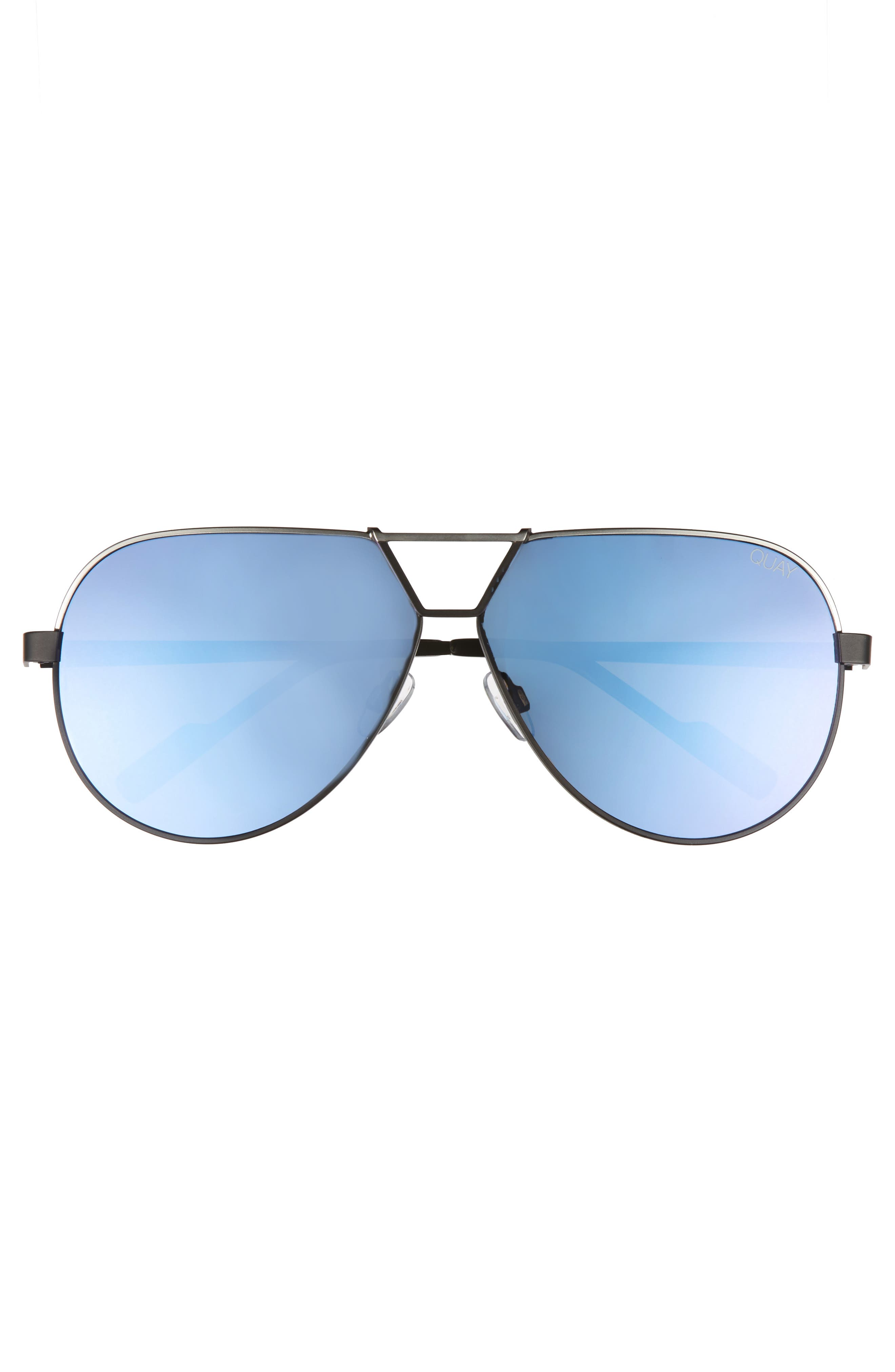 Supernova 63mm Aviator Sunglasses,                             Alternate thumbnail 3, color,                             001