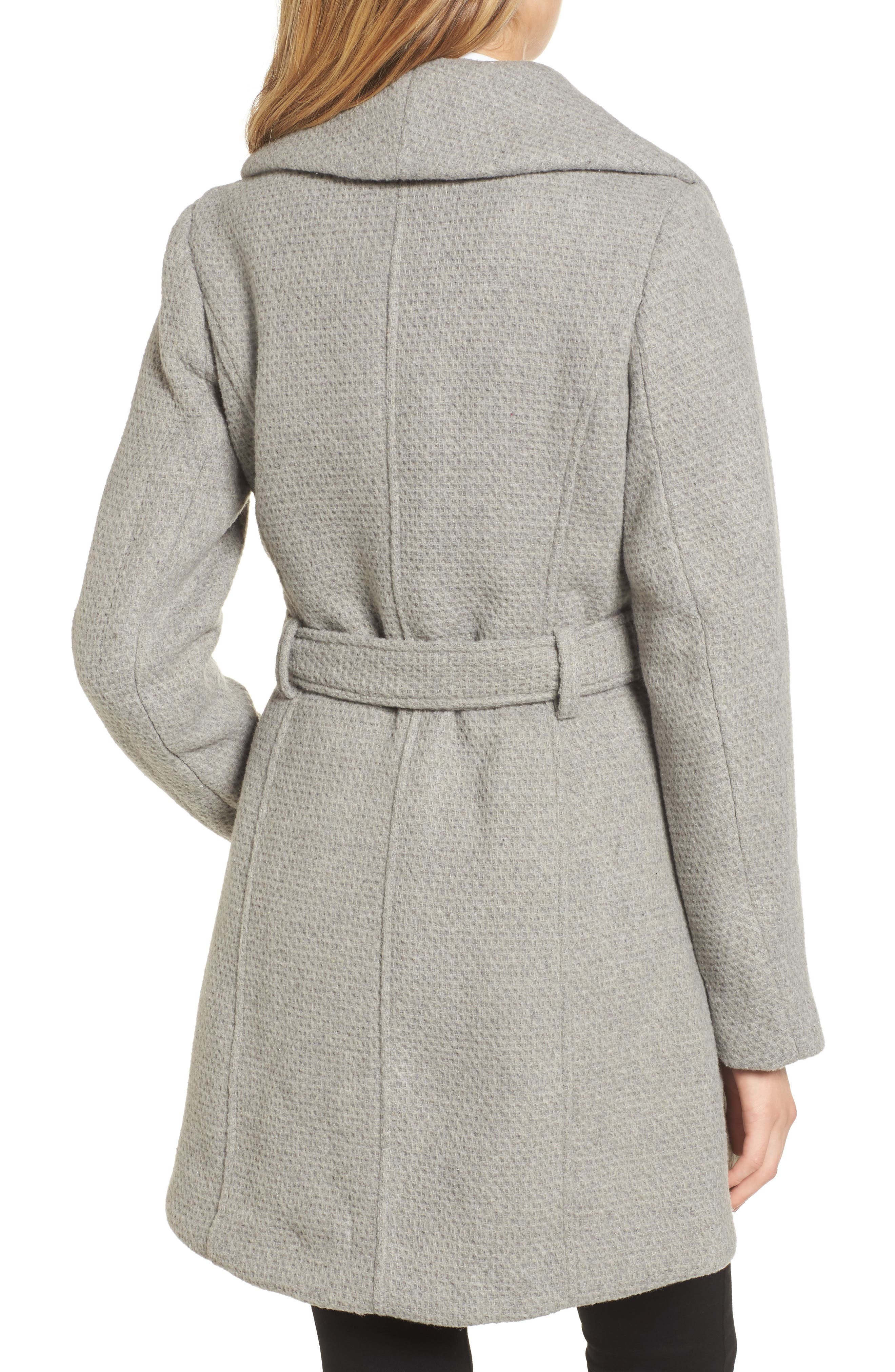 Belted Waffle Woven Coat,                             Alternate thumbnail 2, color,                             038