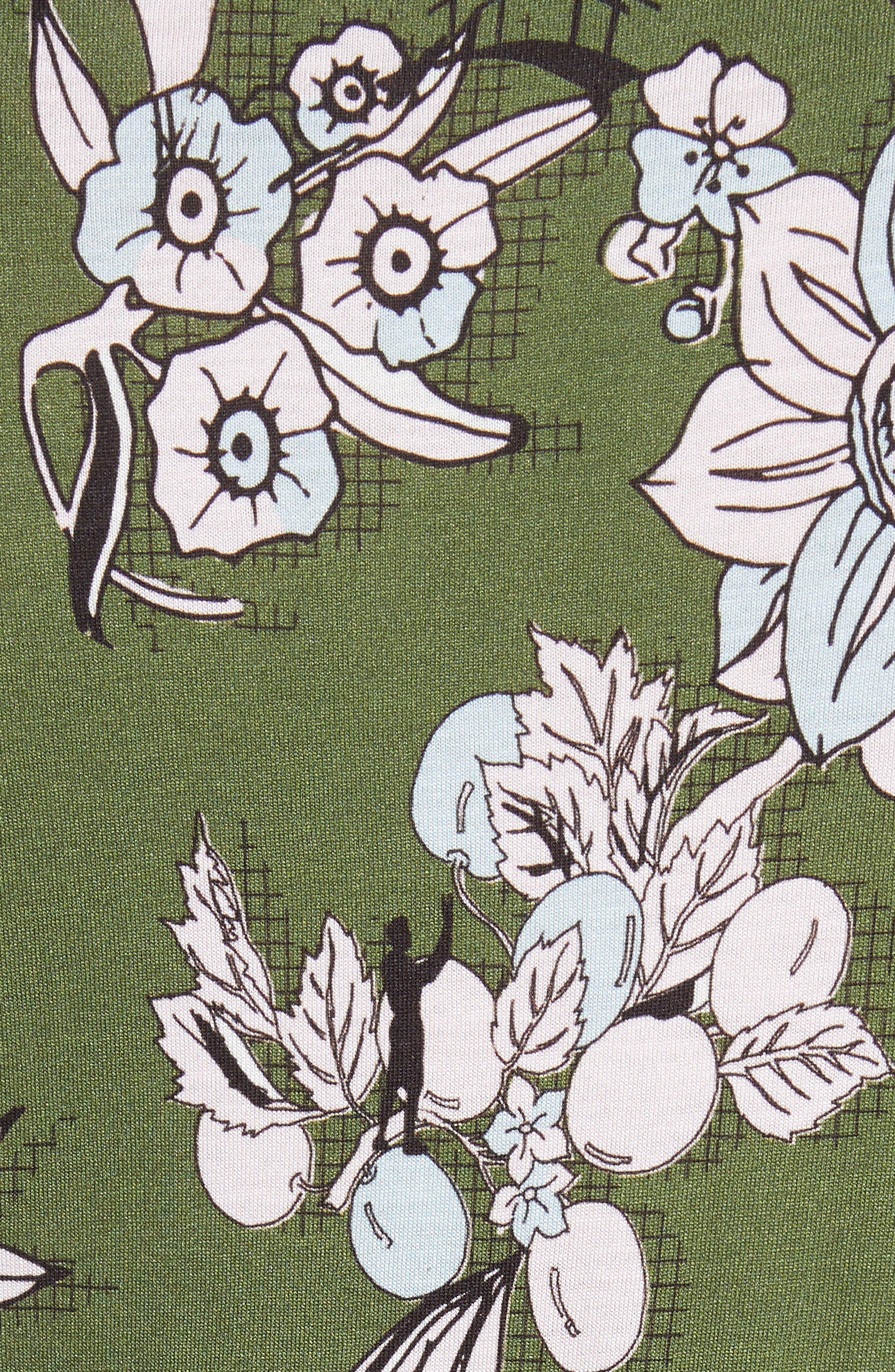Adren Floral Print Tee,                             Alternate thumbnail 5, color,                             311