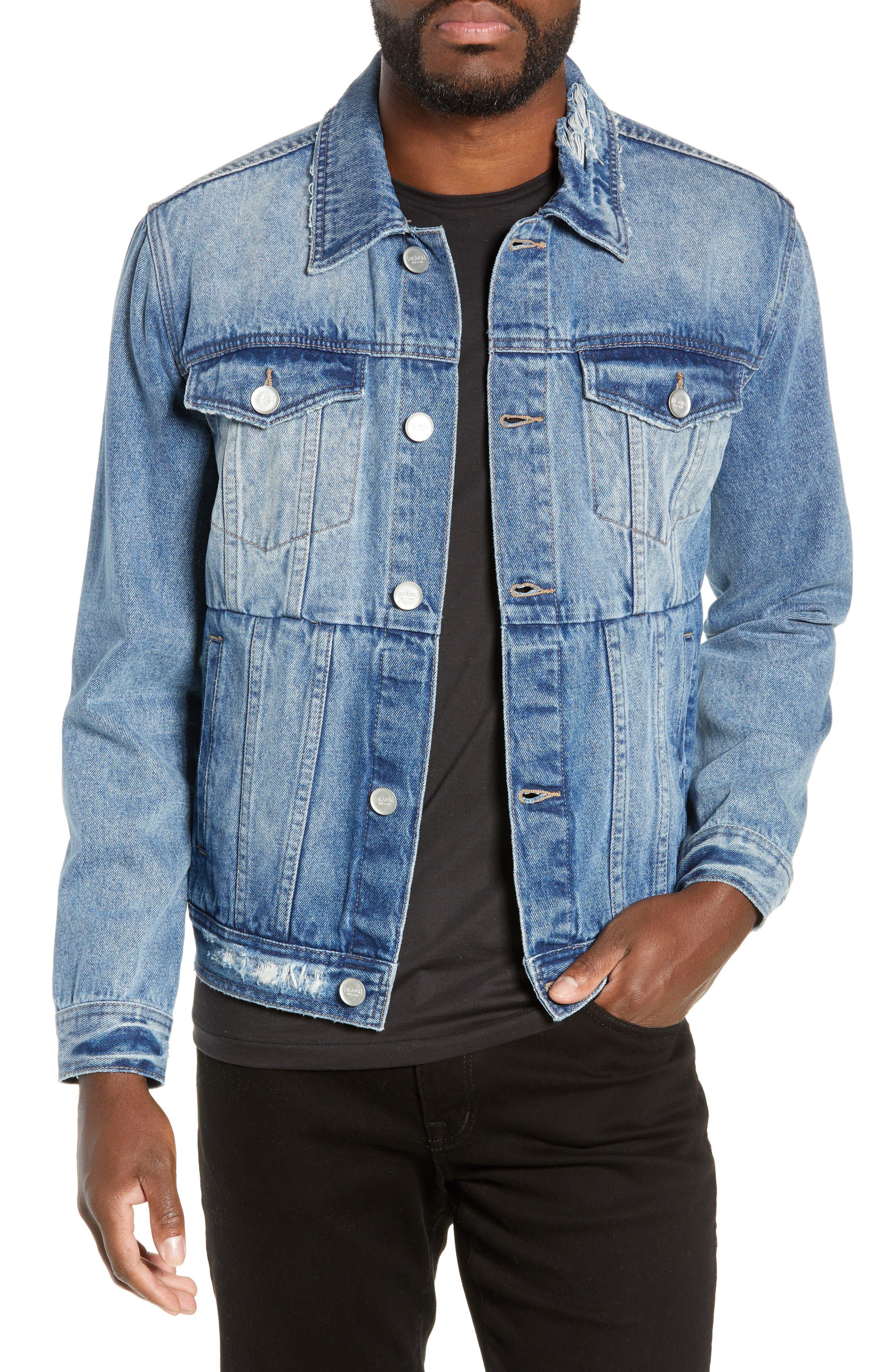 BLANKNYC Denim Trucker Jacket, Main, color, BRAIN CRAMP