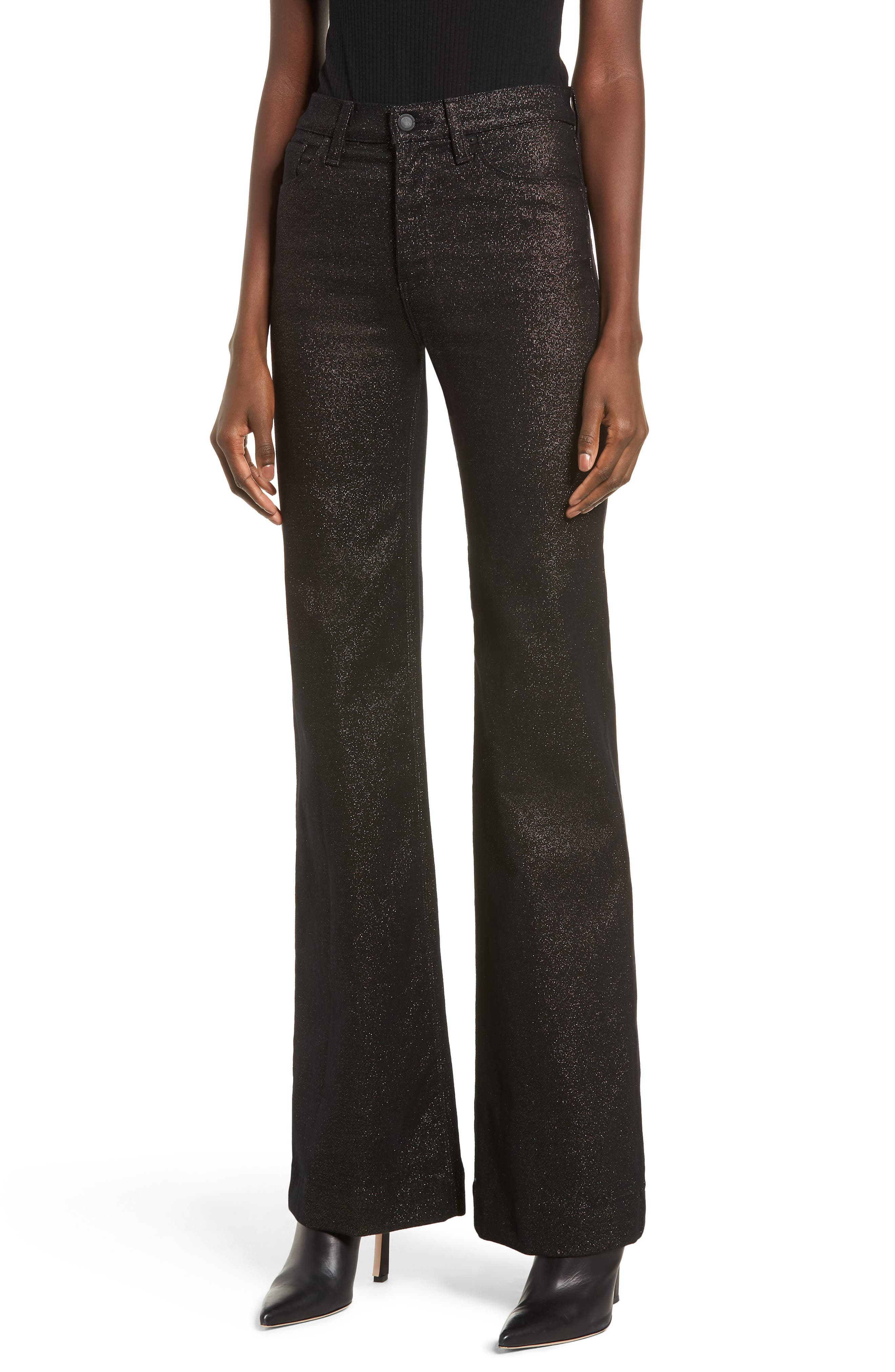 Holly High Waist Wide Leg Jeans,                             Main thumbnail 1, color,                             GOLD STELLAR