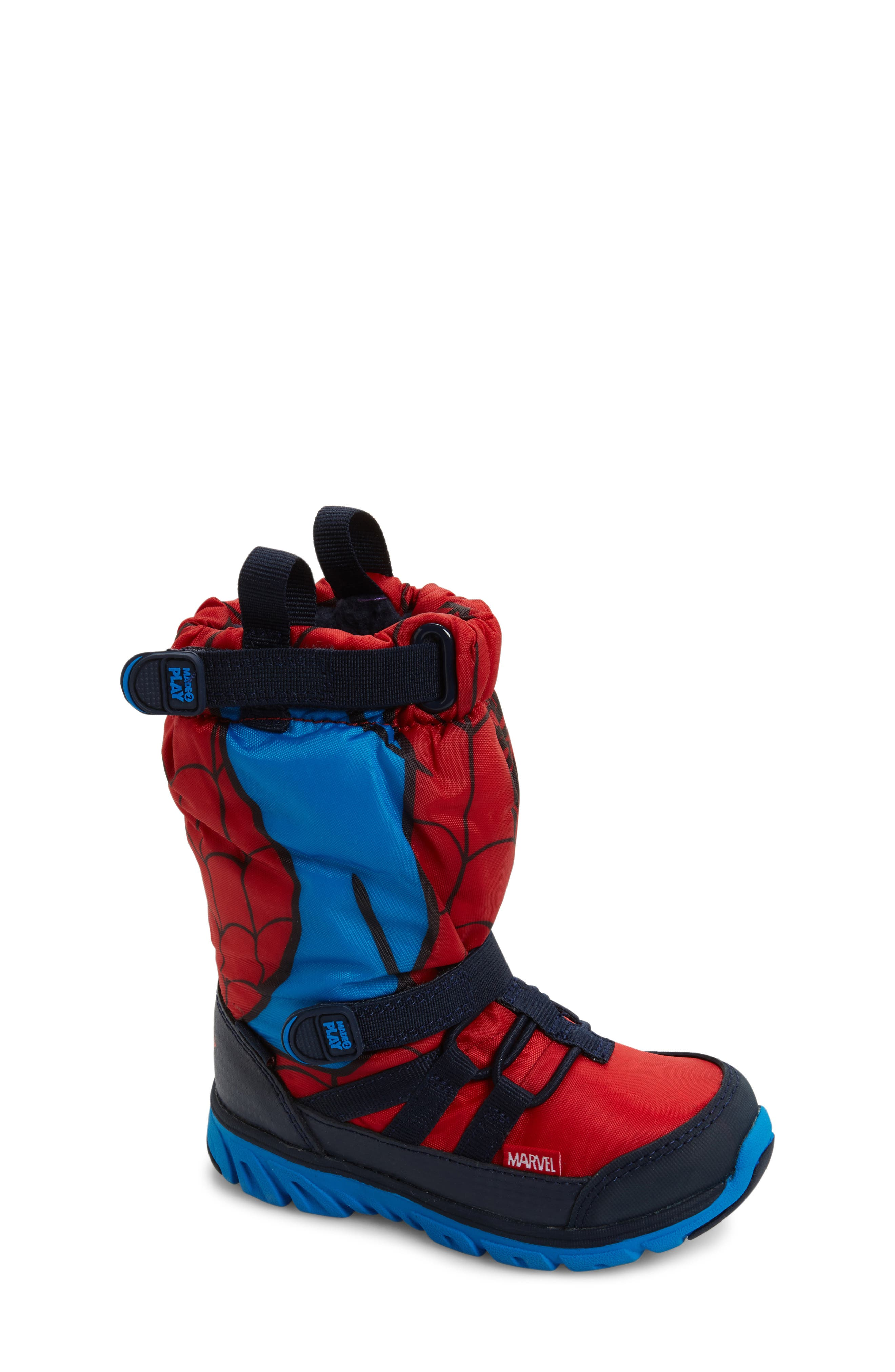 Made2Play<sup>®</sup> Spiderman Water Resistant Boot,                             Main thumbnail 1, color,                             600