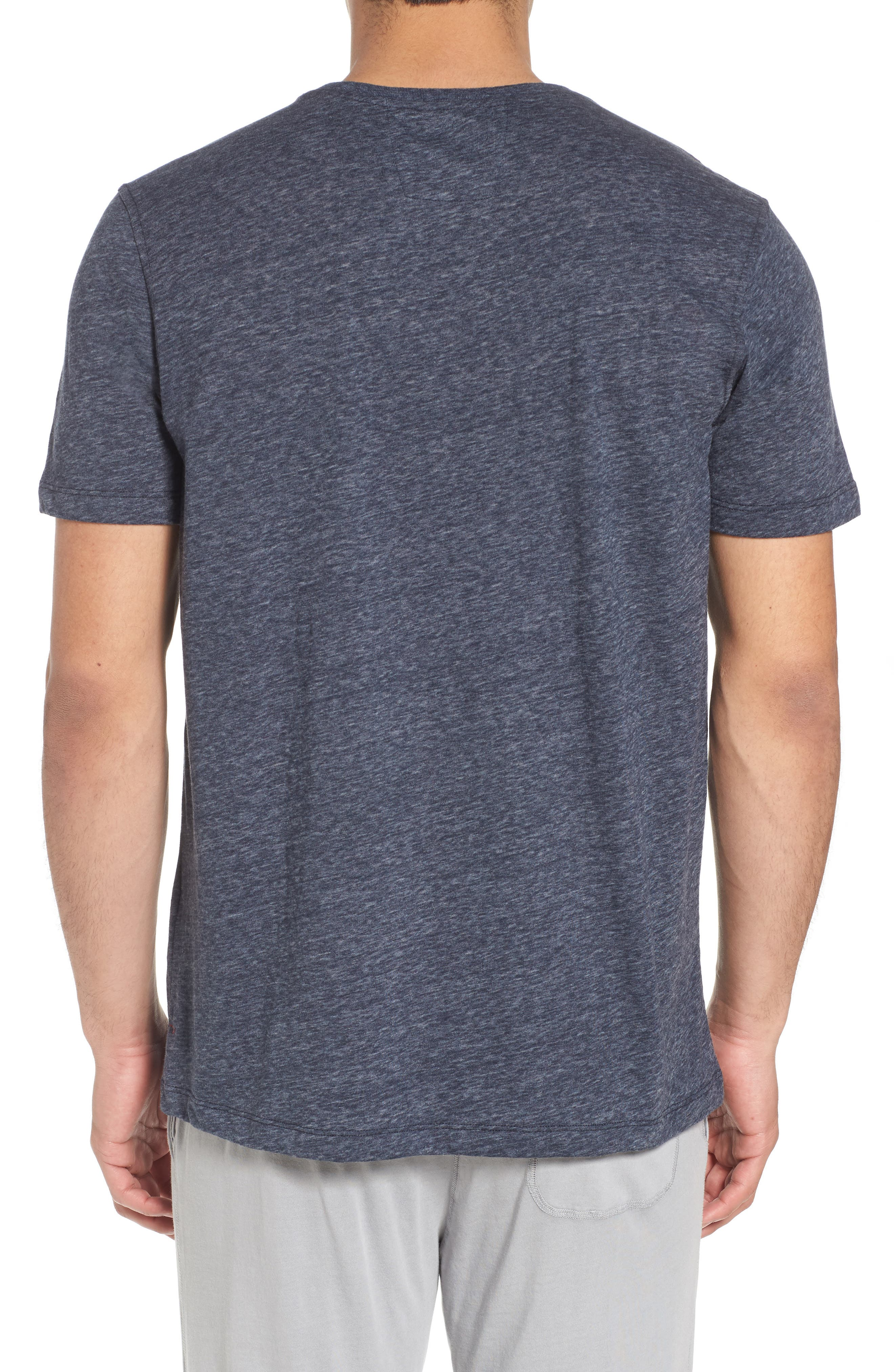 Recycled Cotton Blend T-Shirt,                             Alternate thumbnail 2, color,                             NAVY HEATHER