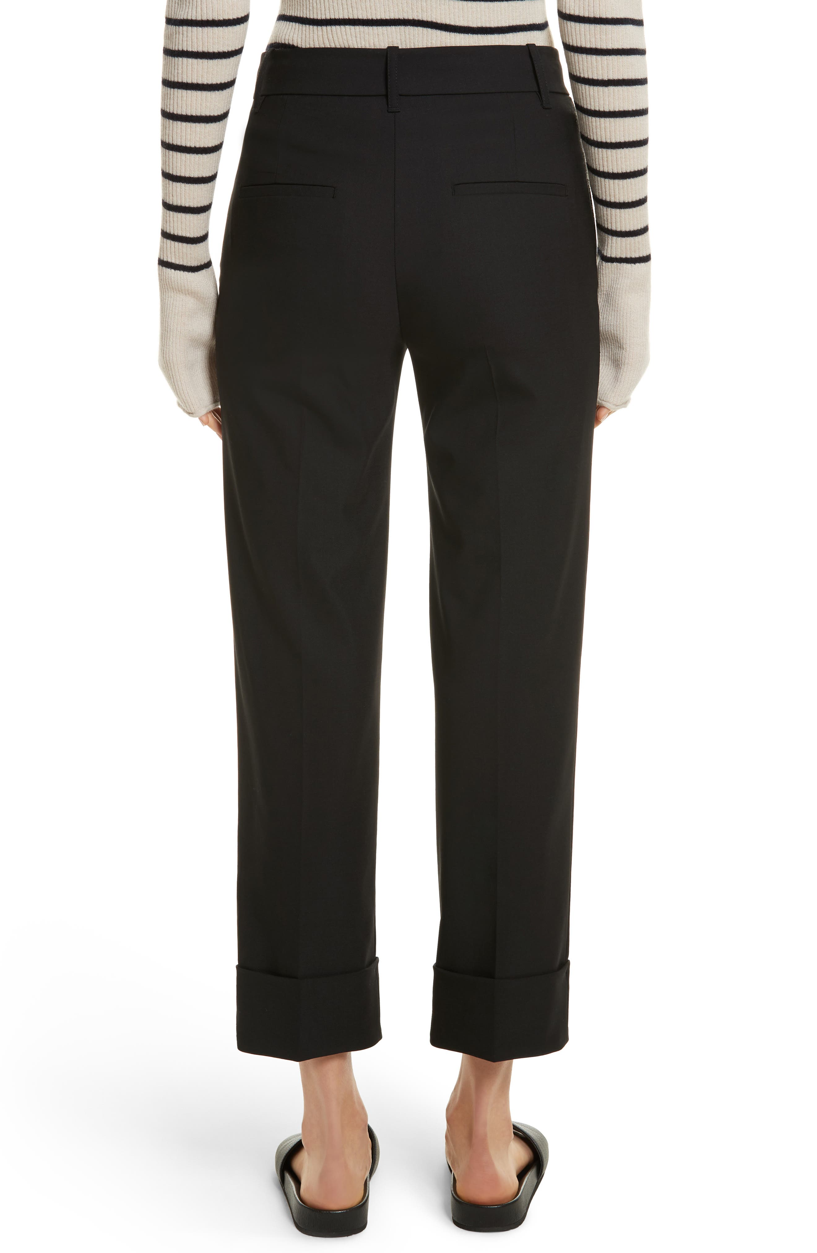 Cuffed Coin Pocket Trousers,                             Alternate thumbnail 2, color,                             001
