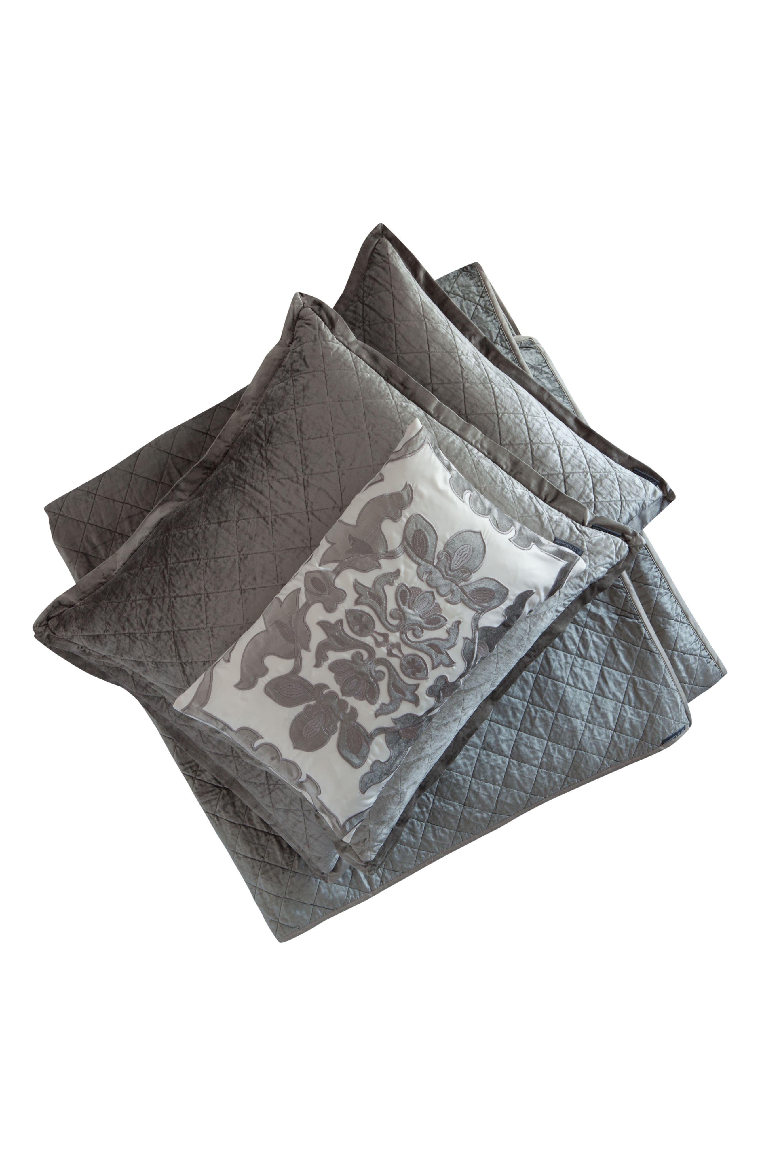 Chloe Comforter,                             Alternate thumbnail 2, color,                             SILVER