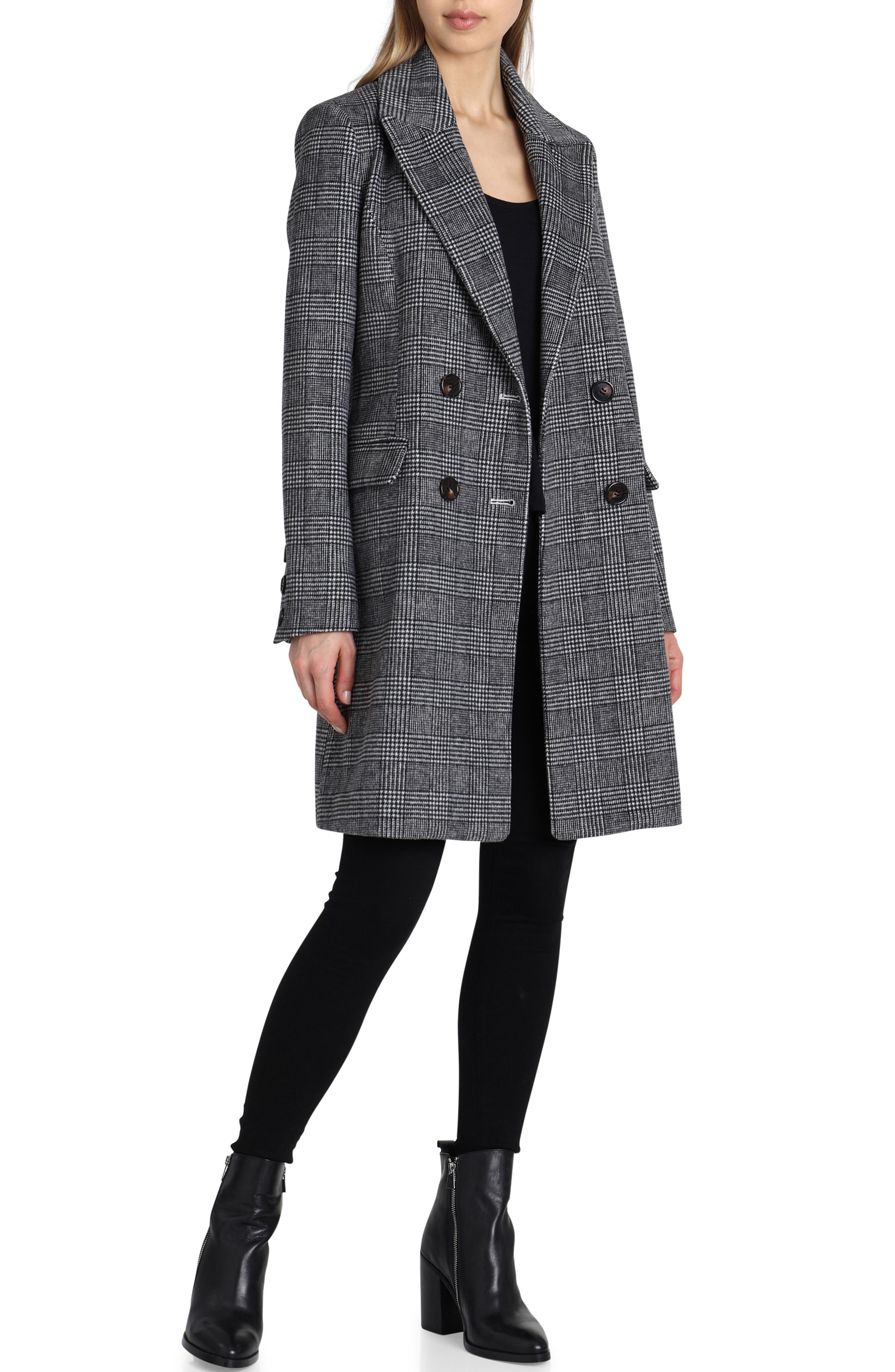 Plaid Coat,                         Main,                         color, 005