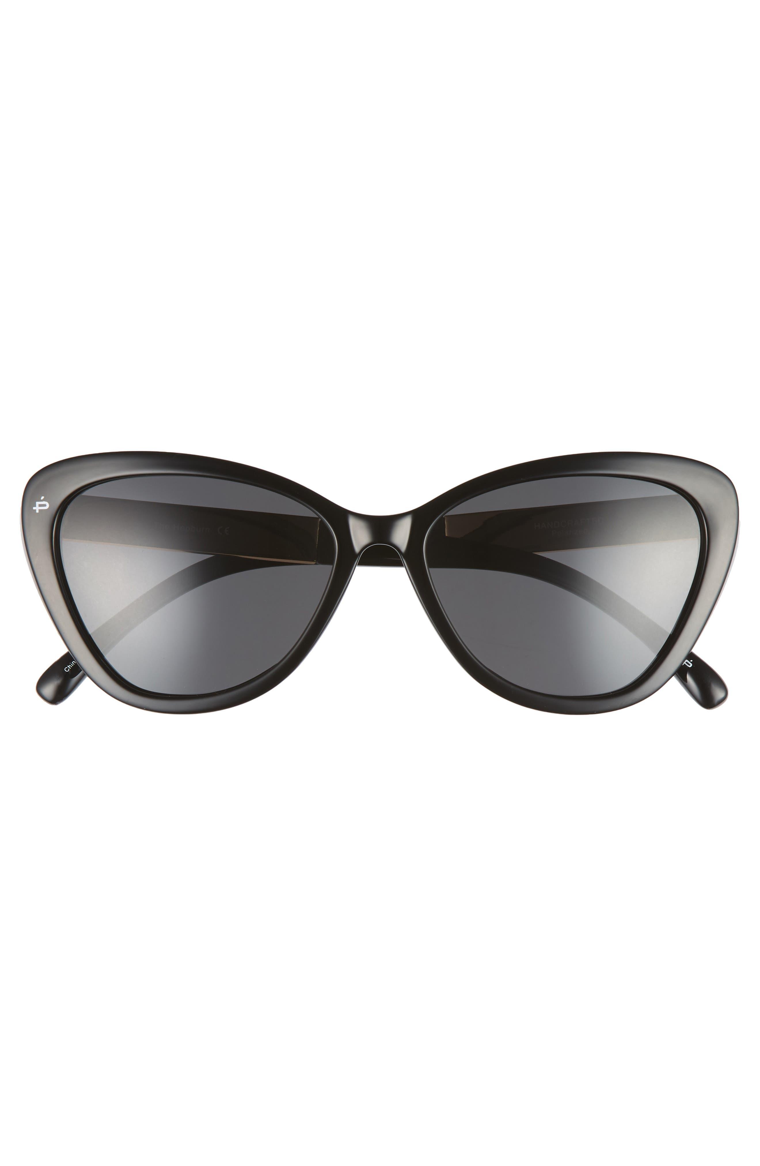 Privé Revaux The Hepburn 56mm Cat Eye Sunglasses,                             Alternate thumbnail 3, color,                             BLACK