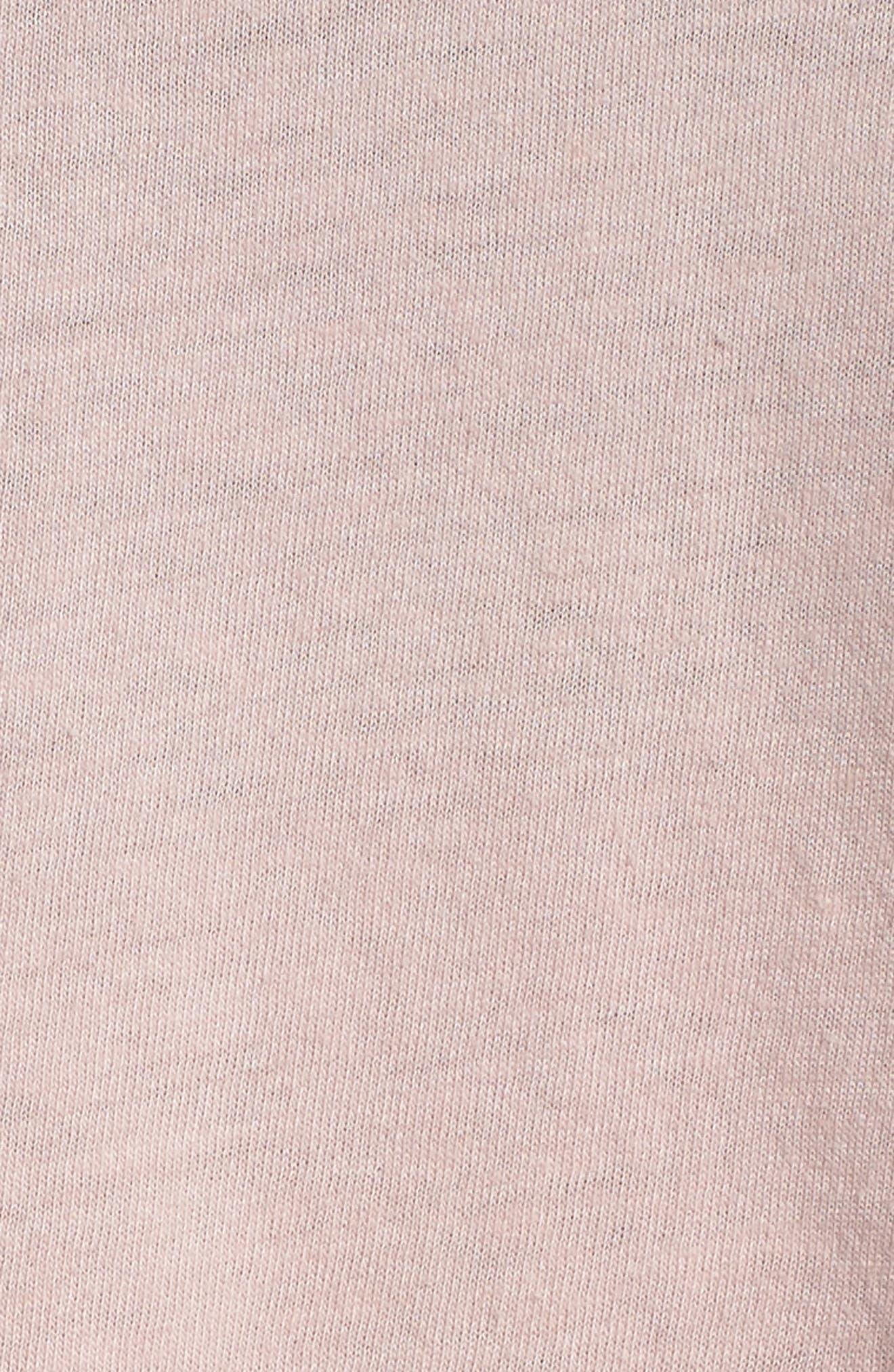 Namaste Cotton Blend Crop Tank Top,                             Alternate thumbnail 6, color,                             ROSE QUARTZ