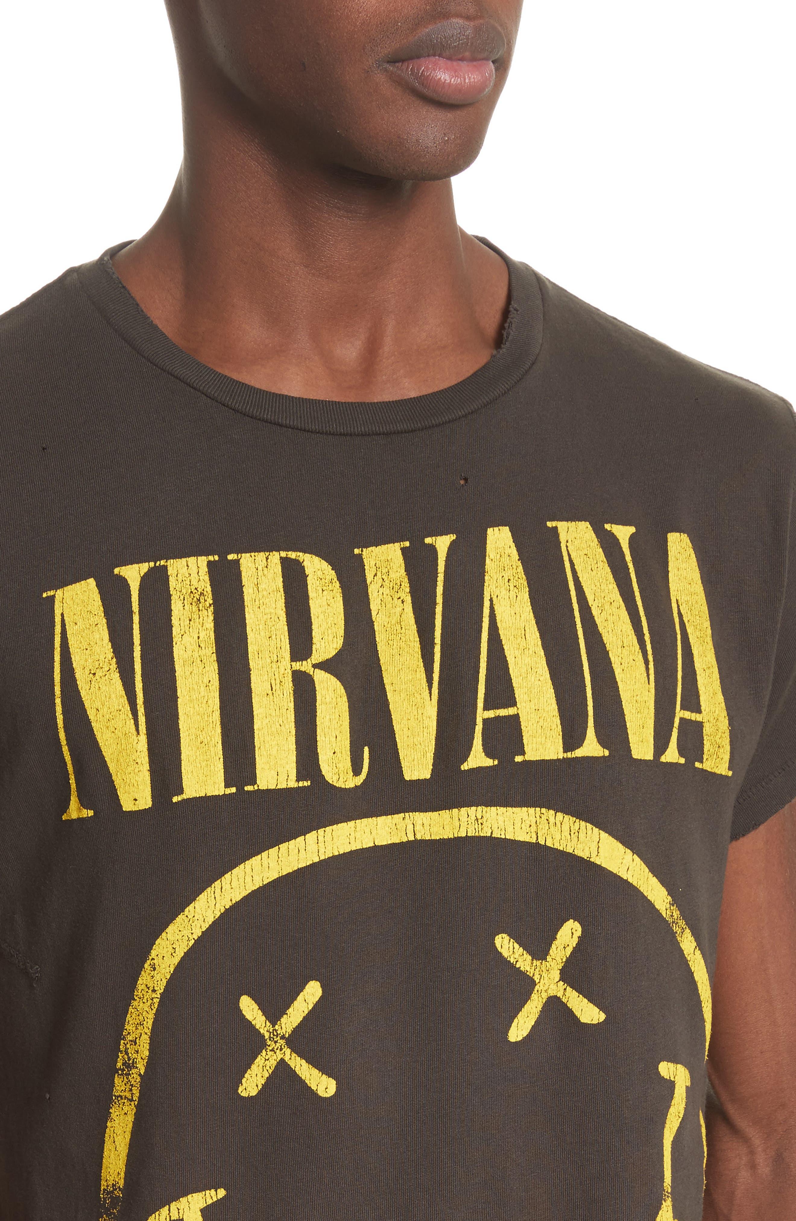 Nirvana Graphic T-Shirt,                             Alternate thumbnail 4, color,                             001