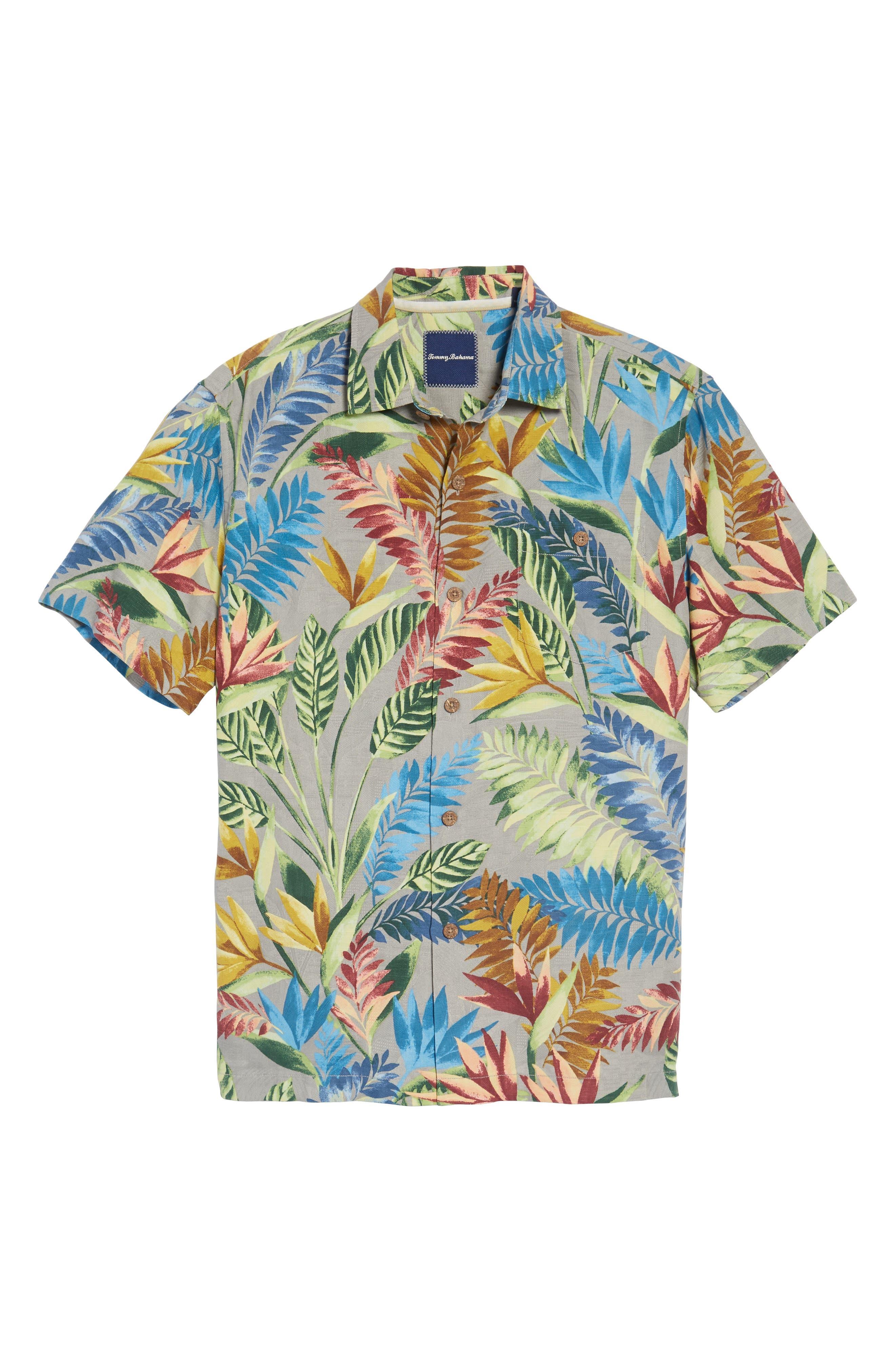 Taza Fronds Silk Brocade Woven Shirt,                             Alternate thumbnail 6, color,                             050