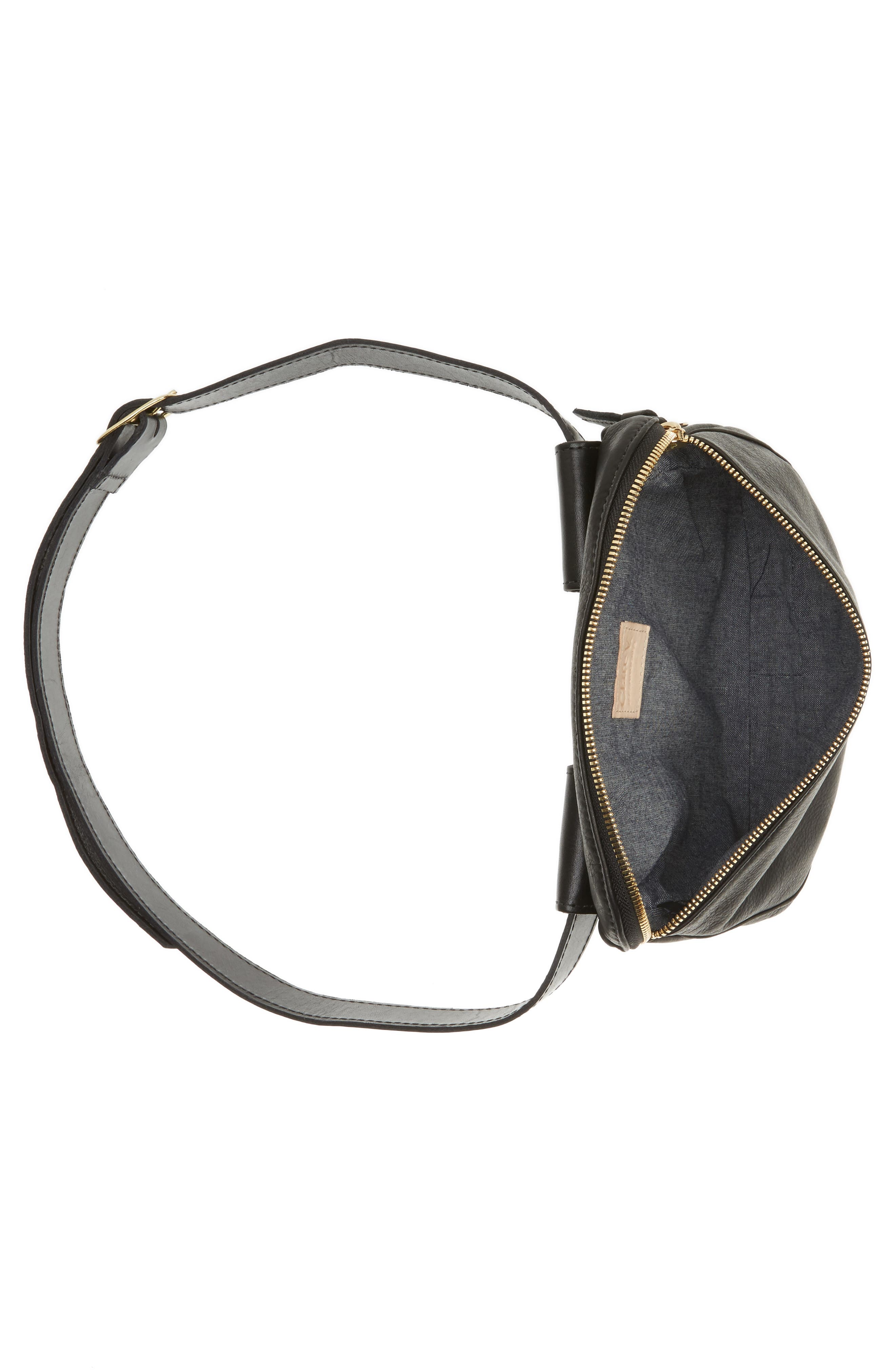 Leather Fanny Pack,                             Alternate thumbnail 7, color,