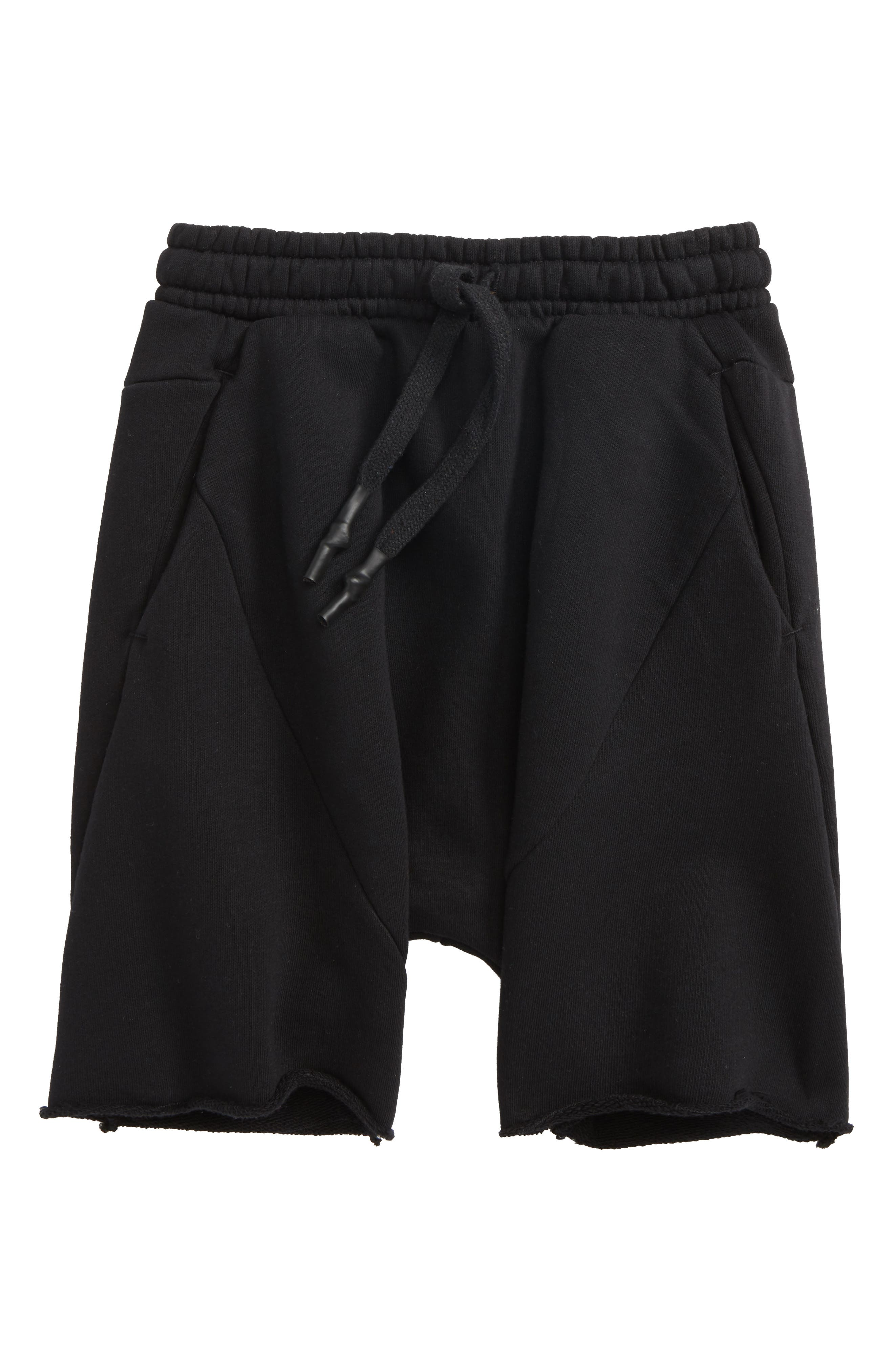NUNUNU,                             Knit Shorts,                             Main thumbnail 1, color,                             001