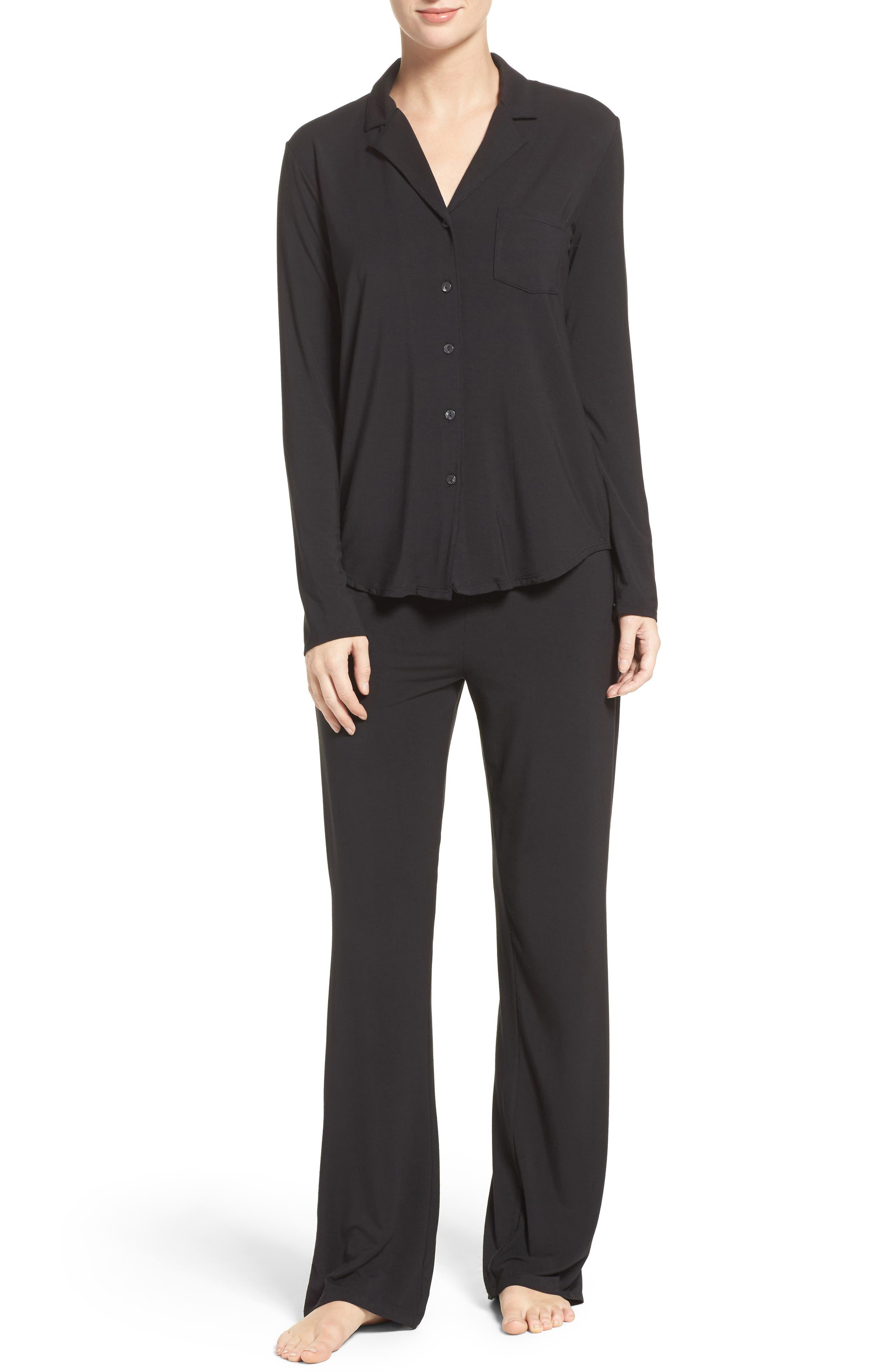 Stretch Modal Pajamas,                         Main,                         color, 001