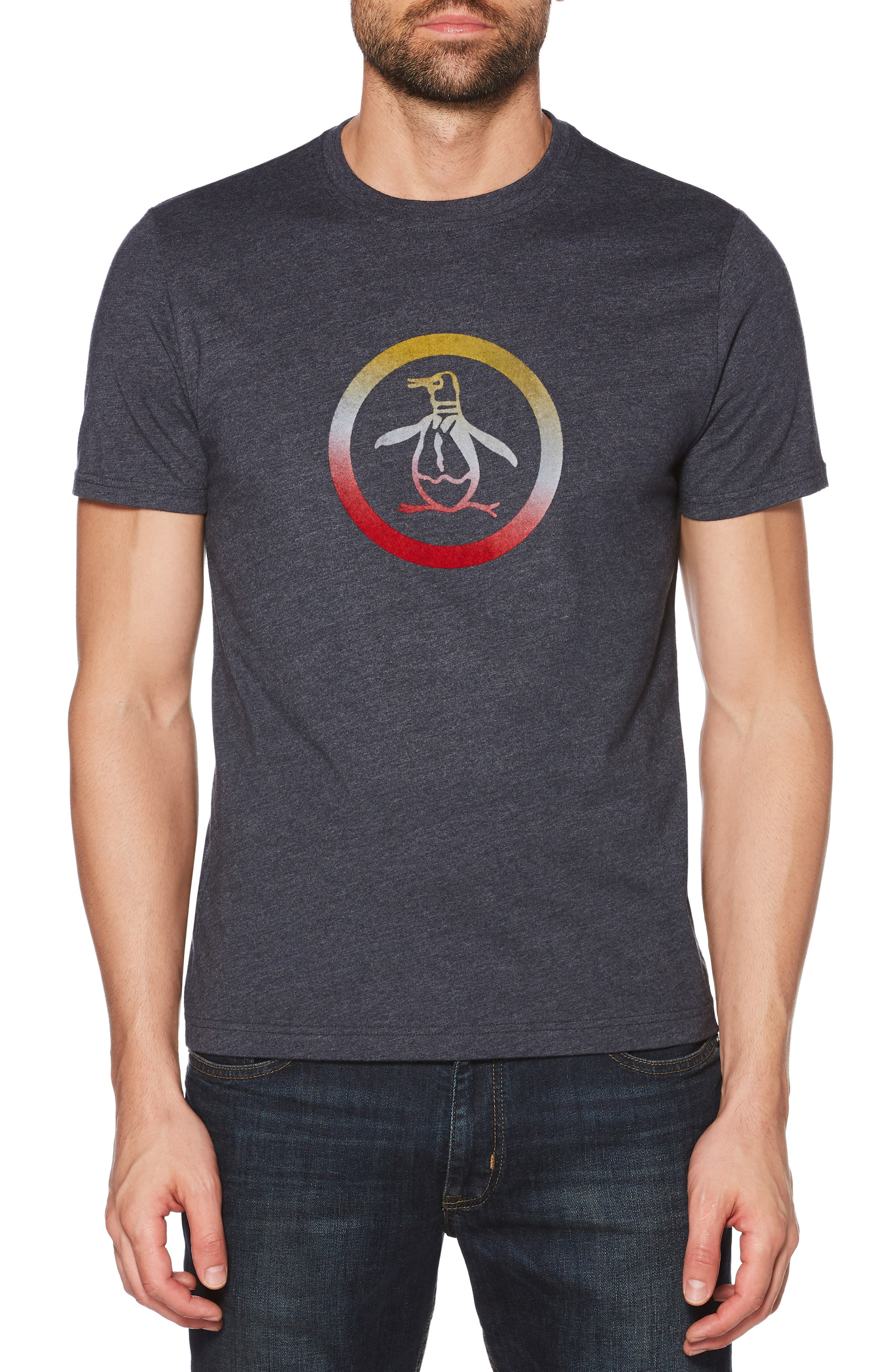 Flocked Ombré Circle Pete T-Shirt,                             Main thumbnail 1, color,                             DARK SAPPHIRE