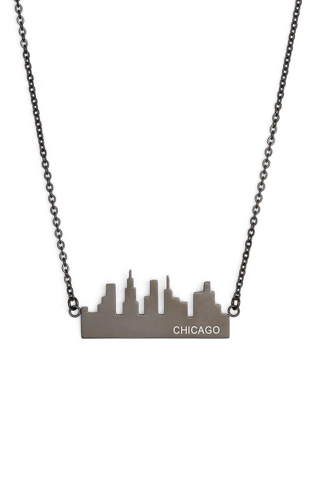 'Chicago' Pendant Necklace, Main, color, 001