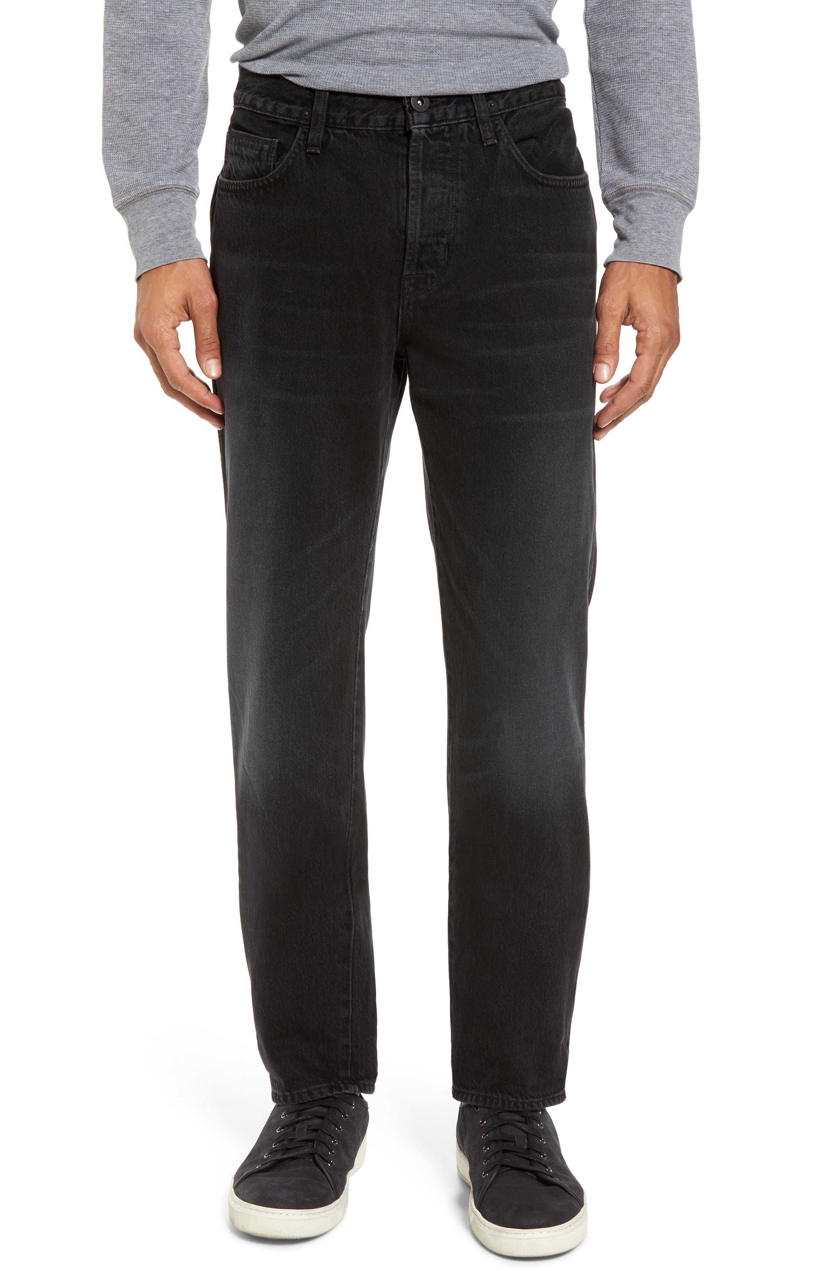 Dixon Straight Fit Jeans,                             Main thumbnail 1, color,                             001