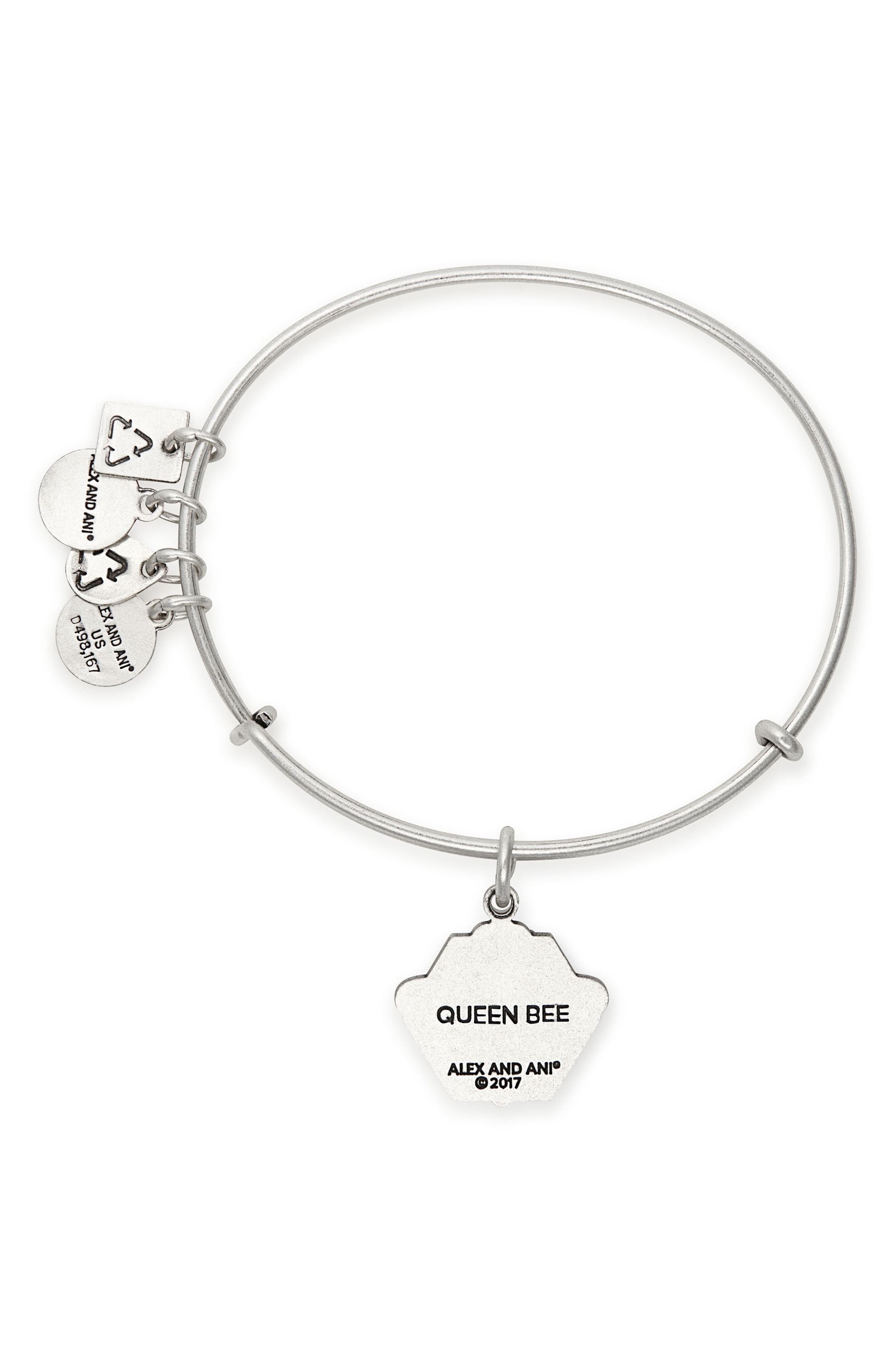 Charity by Design Queen Bee Adjustable Bangle,                             Alternate thumbnail 3, color,