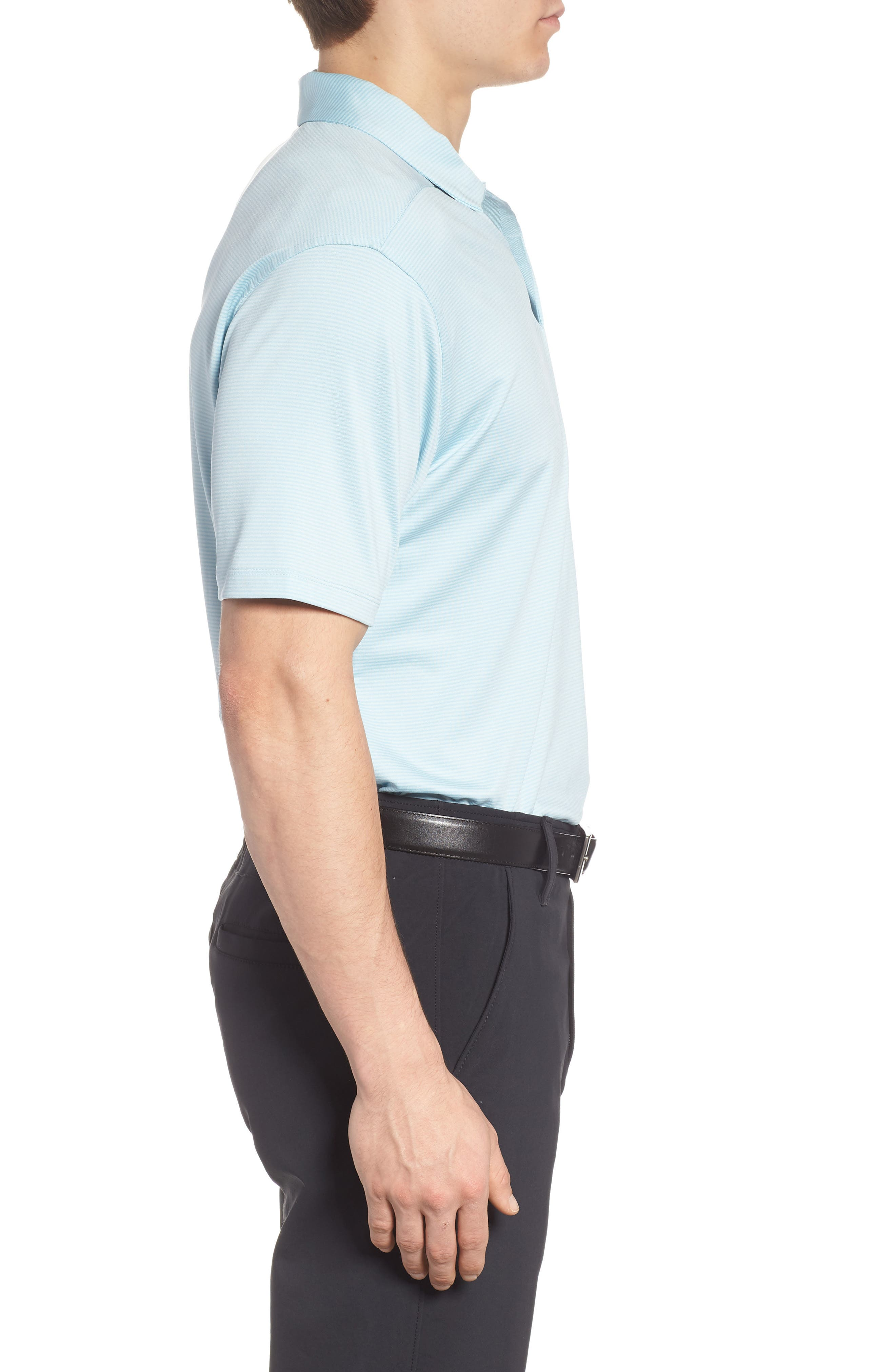 Dry Polo Shirt,                             Alternate thumbnail 3, color,                             OCEAN BLISS/ SILVER
