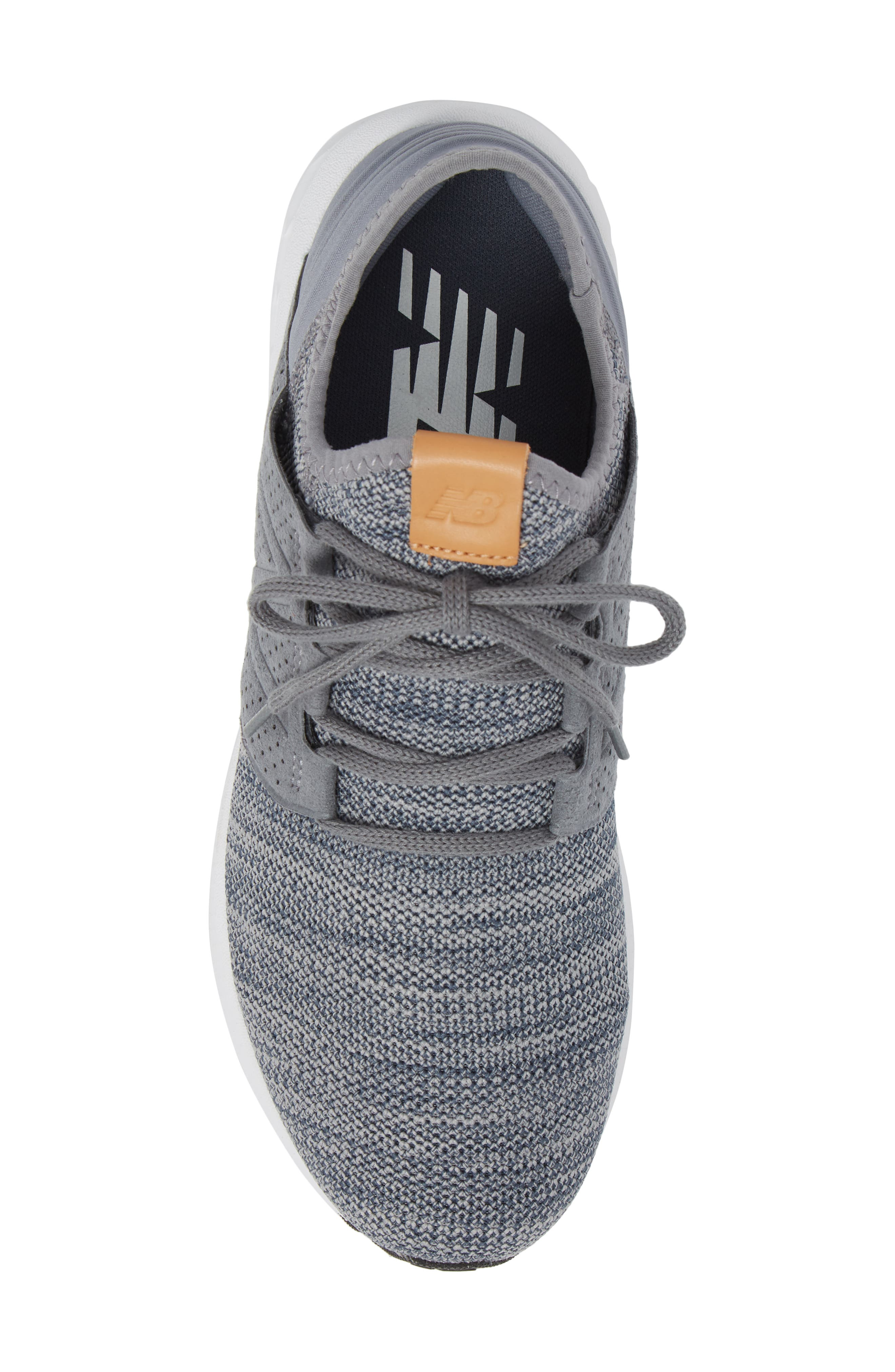 Fresh Foam Cruz v2 Knit Running Shoe,                             Alternate thumbnail 5, color,                             GUNMETAL