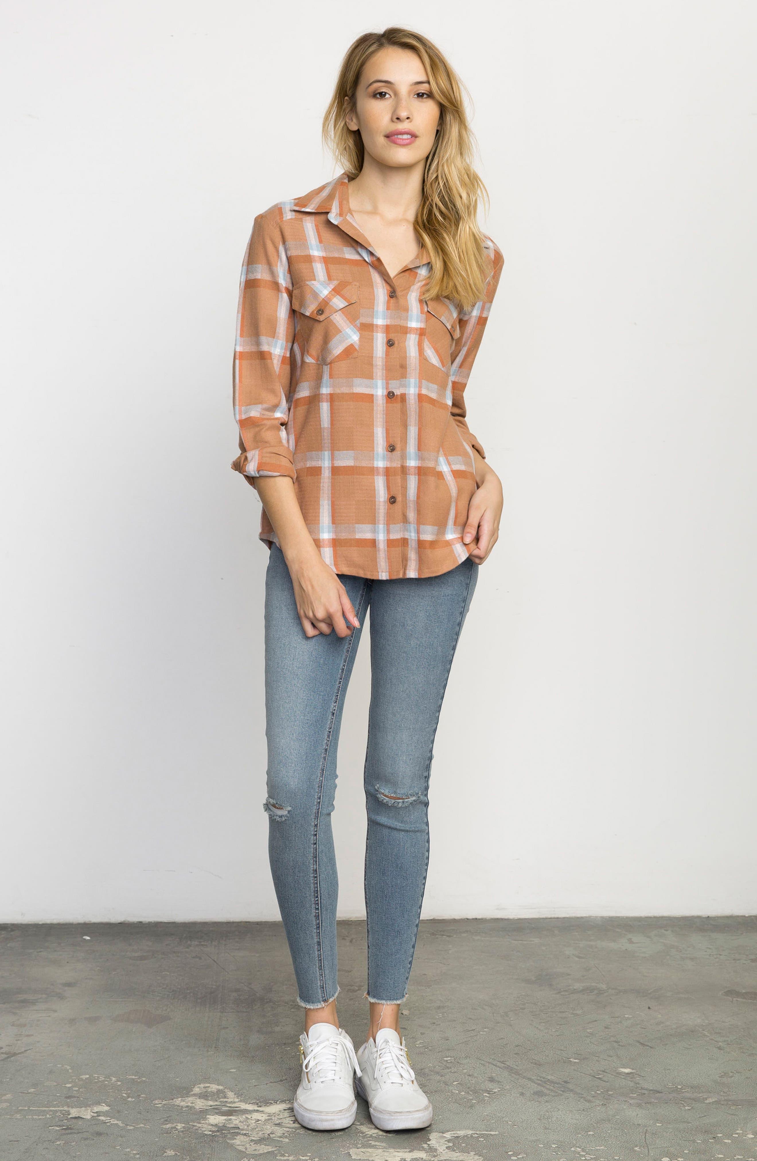 Plaid Flannel Shirt,                             Alternate thumbnail 17, color,