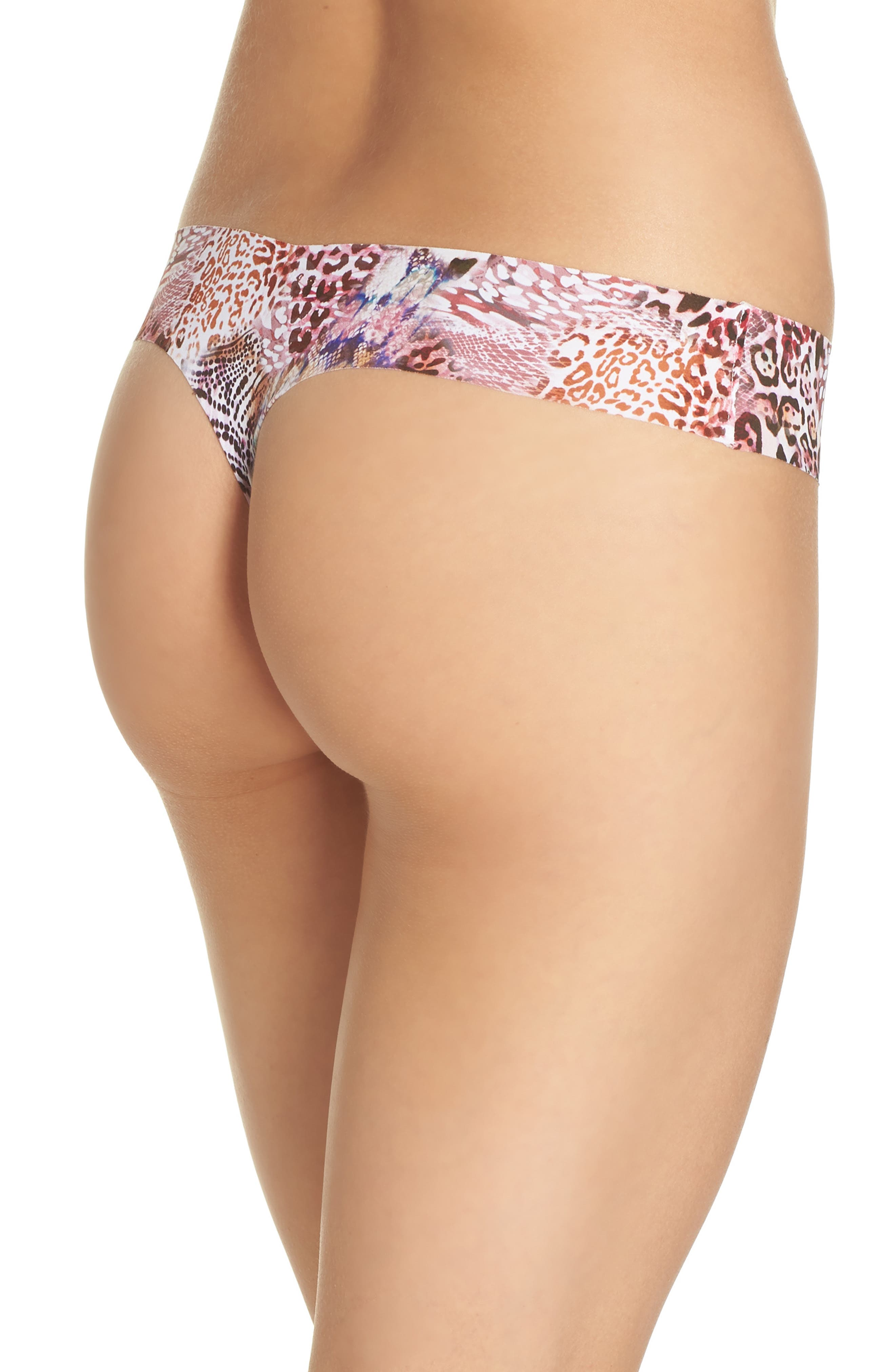 Print Microfiber Thong,                             Alternate thumbnail 114, color,