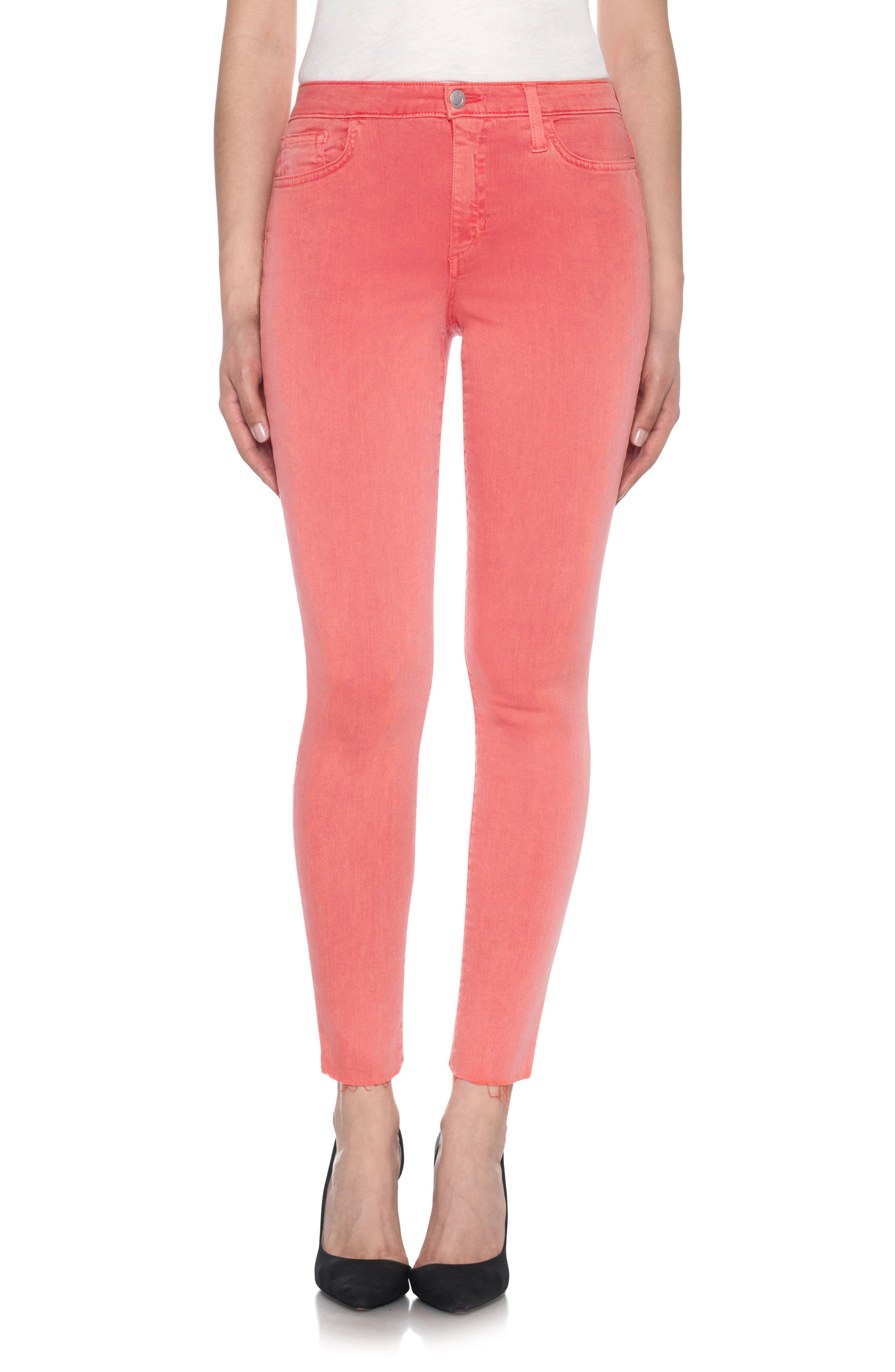 Charlie High Rise Ankle Skinny Jeans,                             Main thumbnail 7, color,