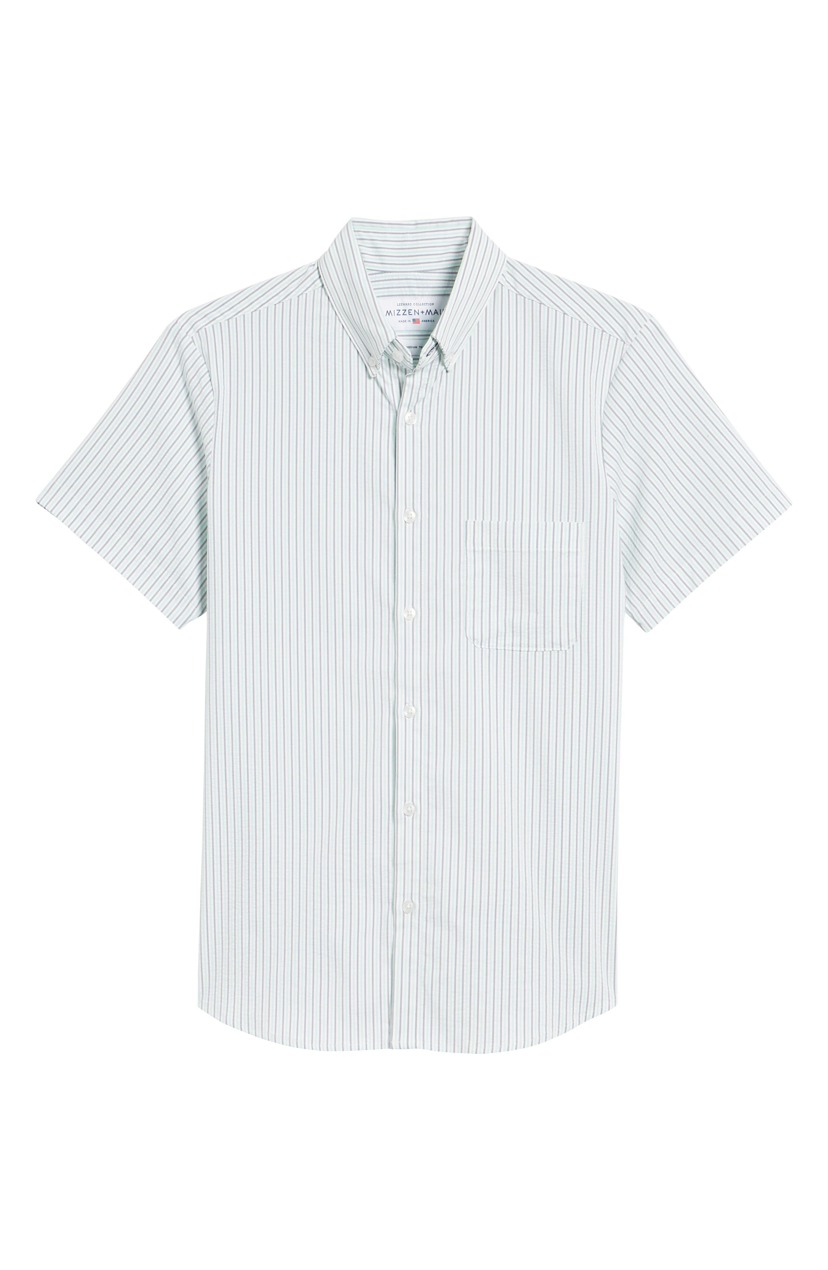 Eastland Short Sleeve Sport Shirt,                             Alternate thumbnail 6, color,                             GREEN