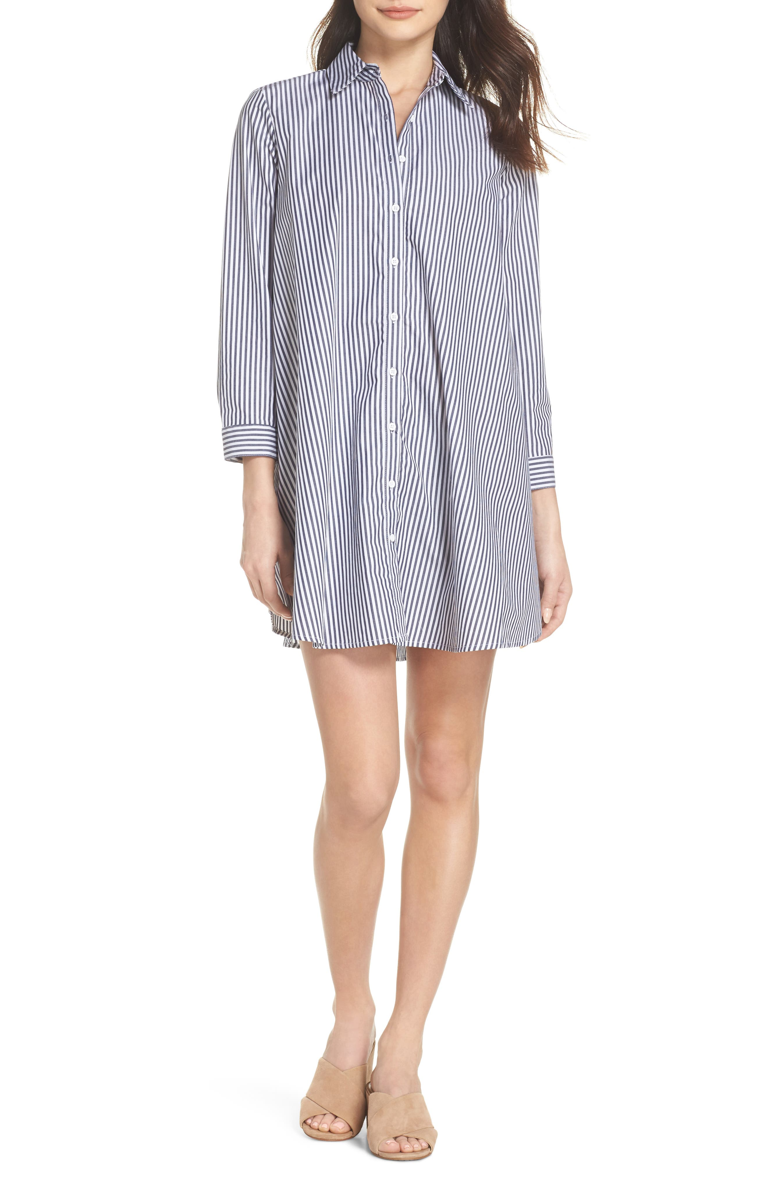 Olsen Stripe Shirtdress,                         Main,                         color,