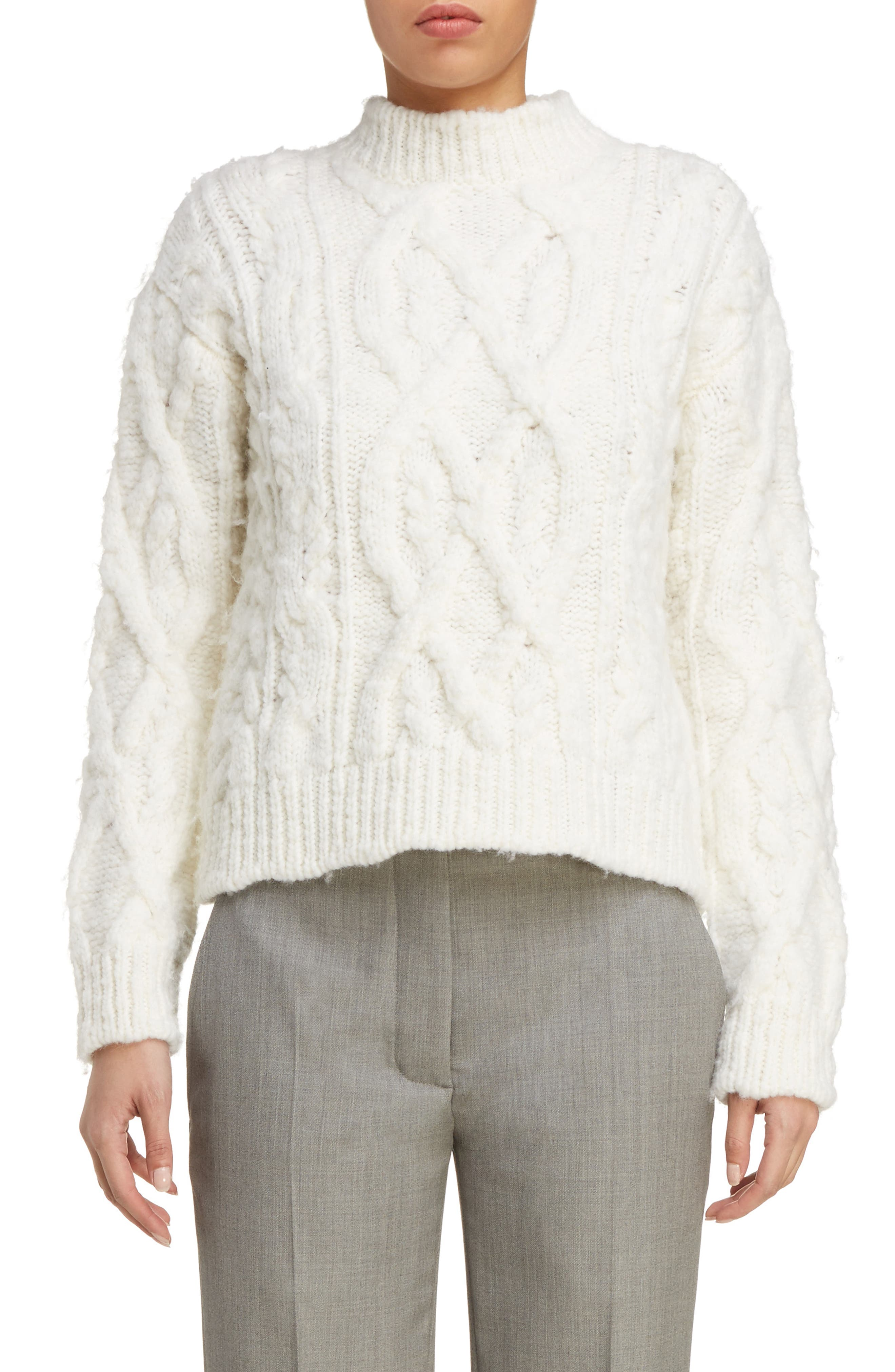 Edyta Cable Knit Sweater,                             Main thumbnail 1, color,                             900