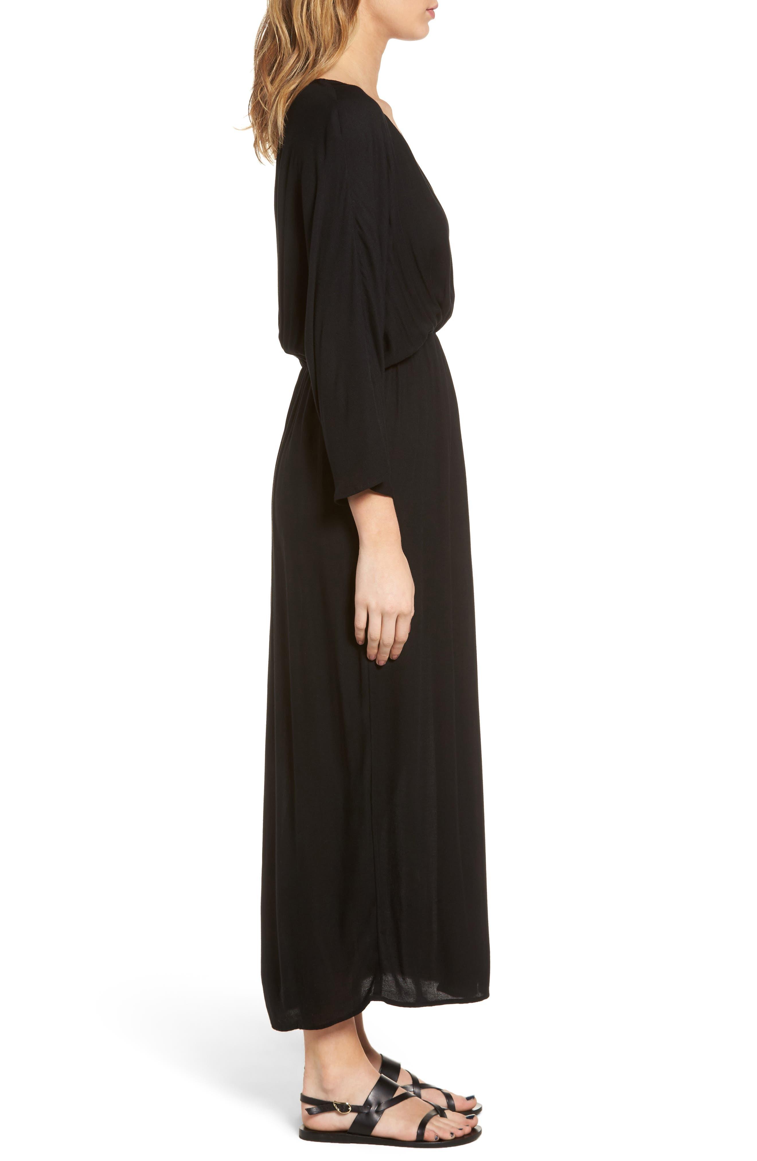 Blouson Maxi Dress,                             Alternate thumbnail 3, color,                             001