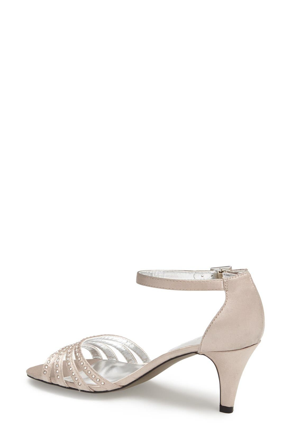 'Terra' Ankle Strap Sandal,                             Alternate thumbnail 6, color,                             CHAMPAGNE SATIN