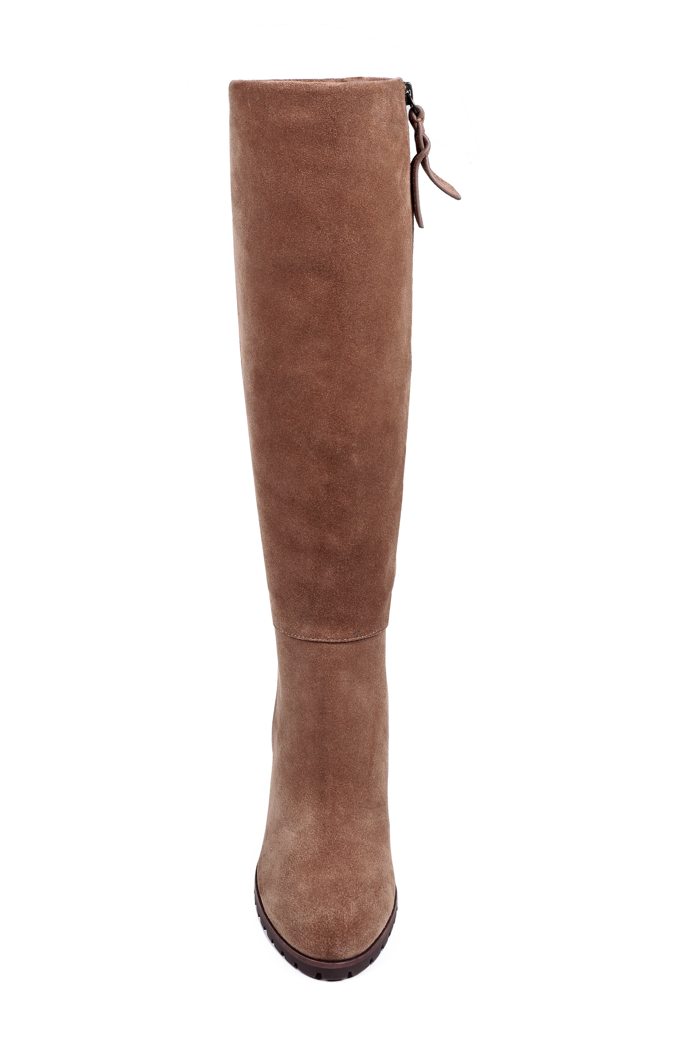 Cleveland Wedge Boot,                             Alternate thumbnail 4, color,                             LIGHT BROWN SUEDE