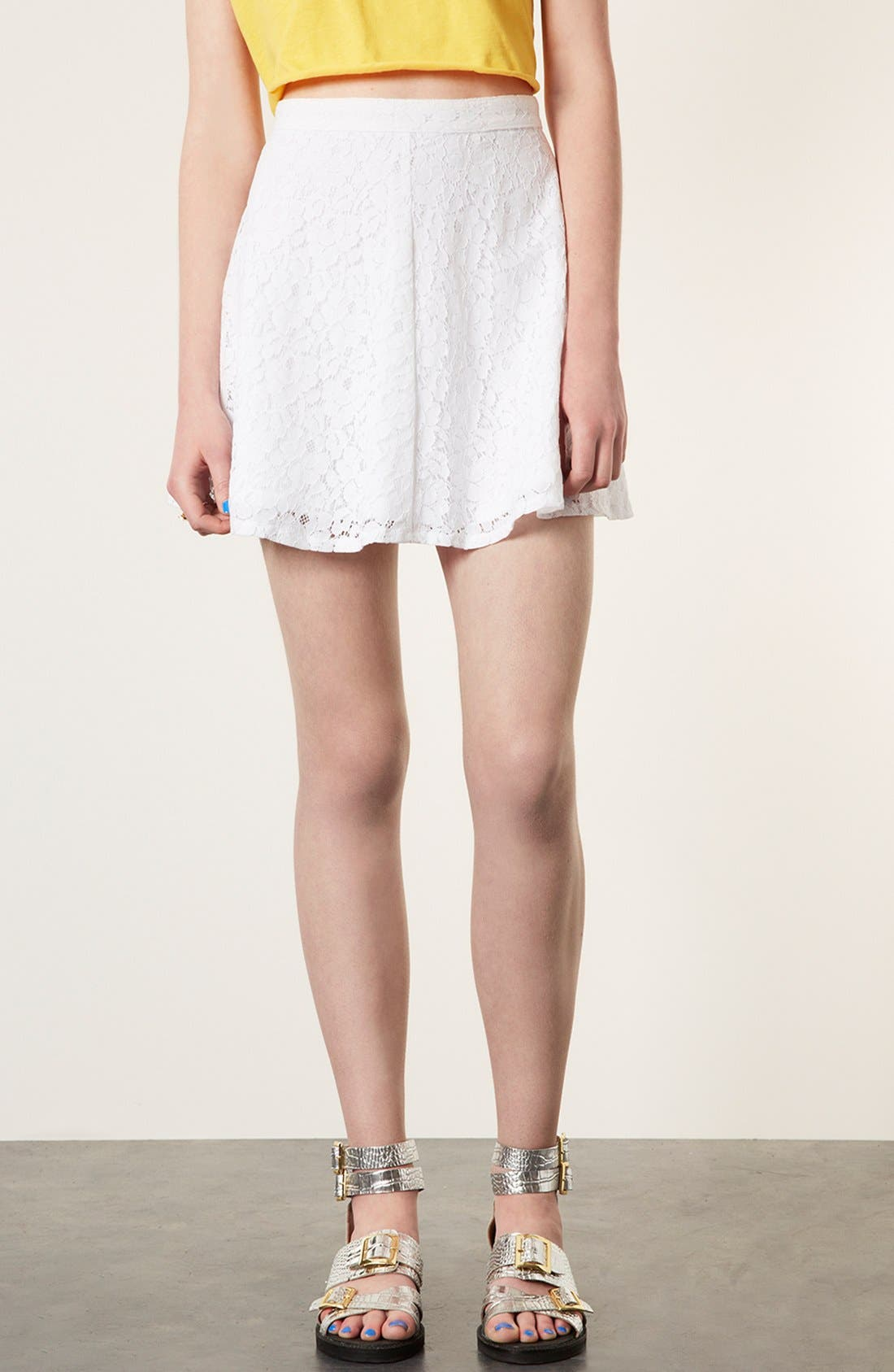 Lace Skater Skirt,                             Main thumbnail 1, color,                             100