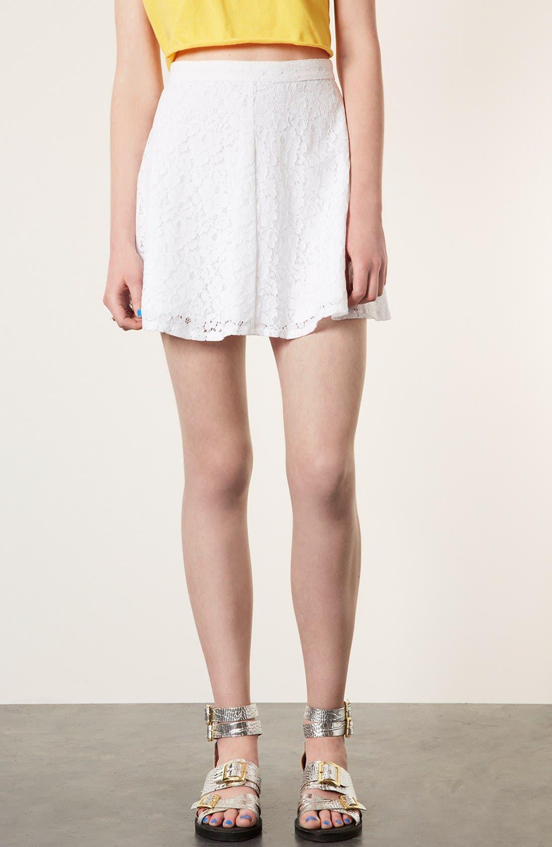 Lace Skater Skirt,                         Main,                         color, 100