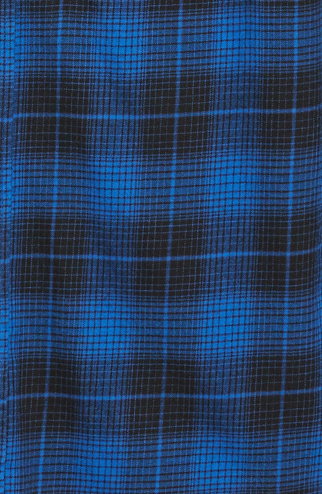 THE KOOPLES,                             Plaid Flannel Shirt,                             Alternate thumbnail 6, color,                             ROYAL BLUE / BLACK