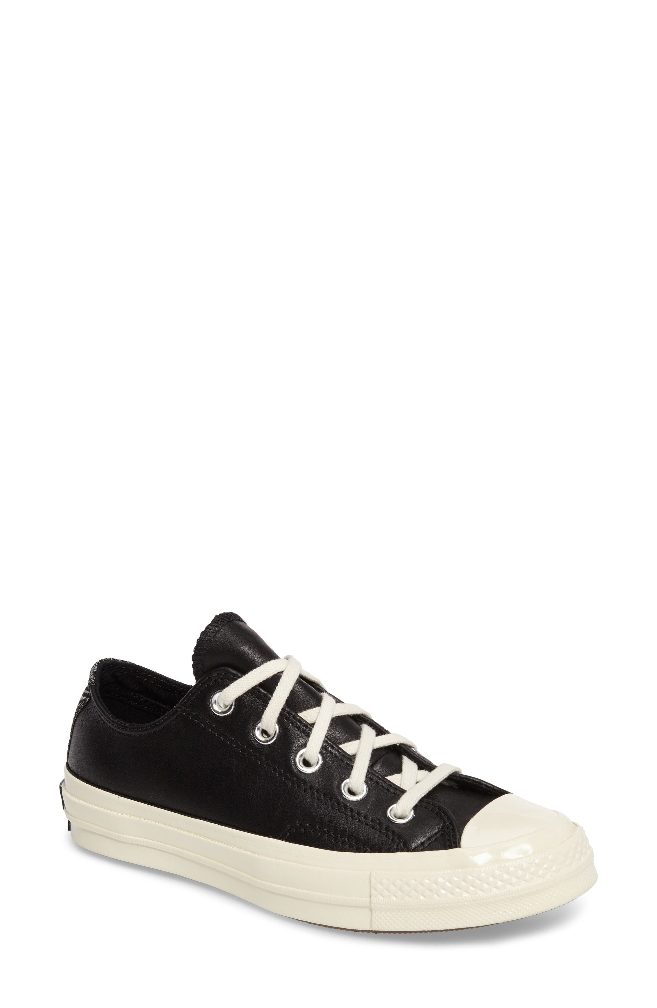 Chuck Taylor<sup>®</sup> All Star<sup>®</sup> Ox Genuine Calf Hair Sneaker, Main, color, 001