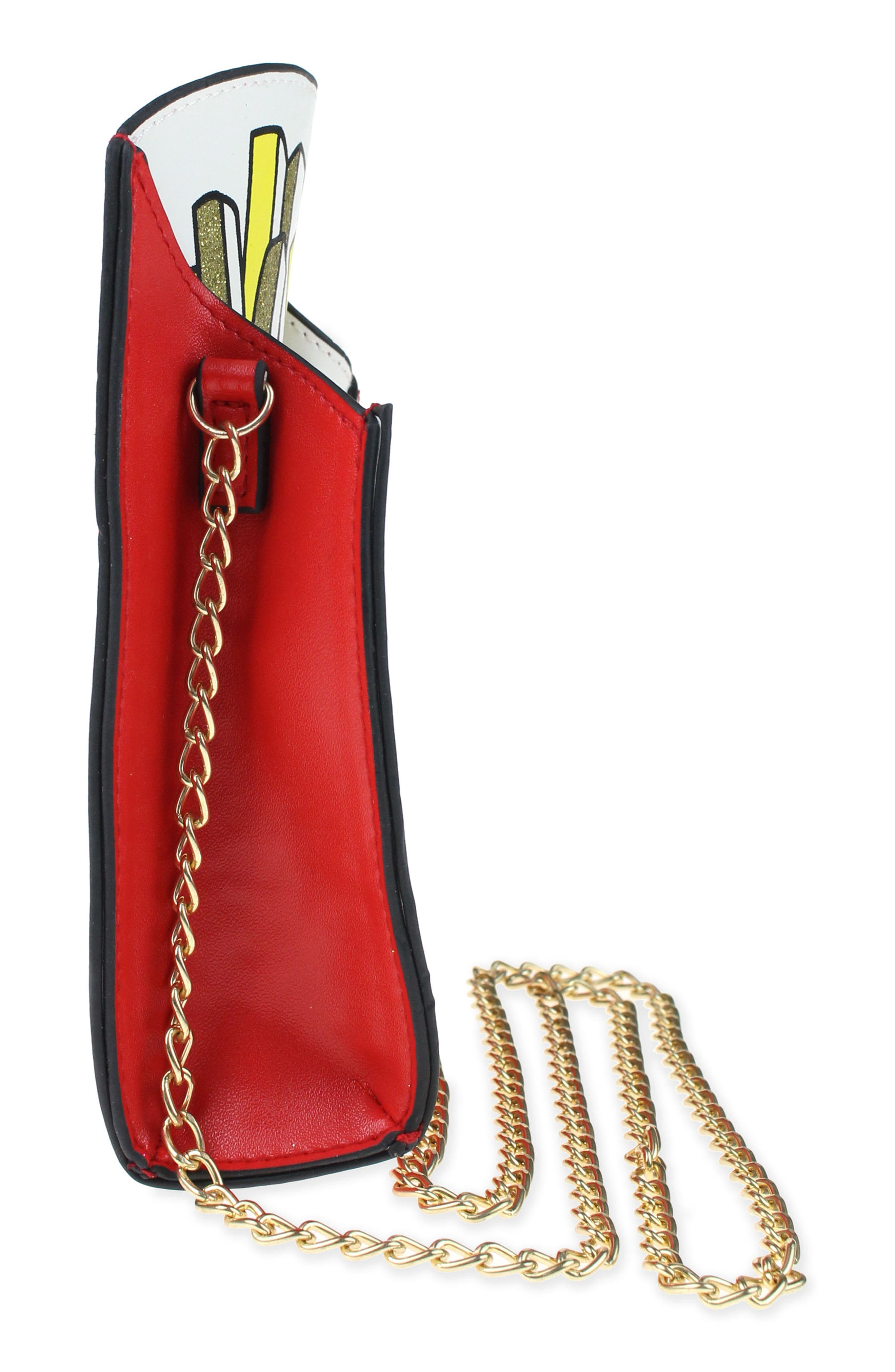 French Fries Faux Leather Bag,                             Alternate thumbnail 4, color,                             602