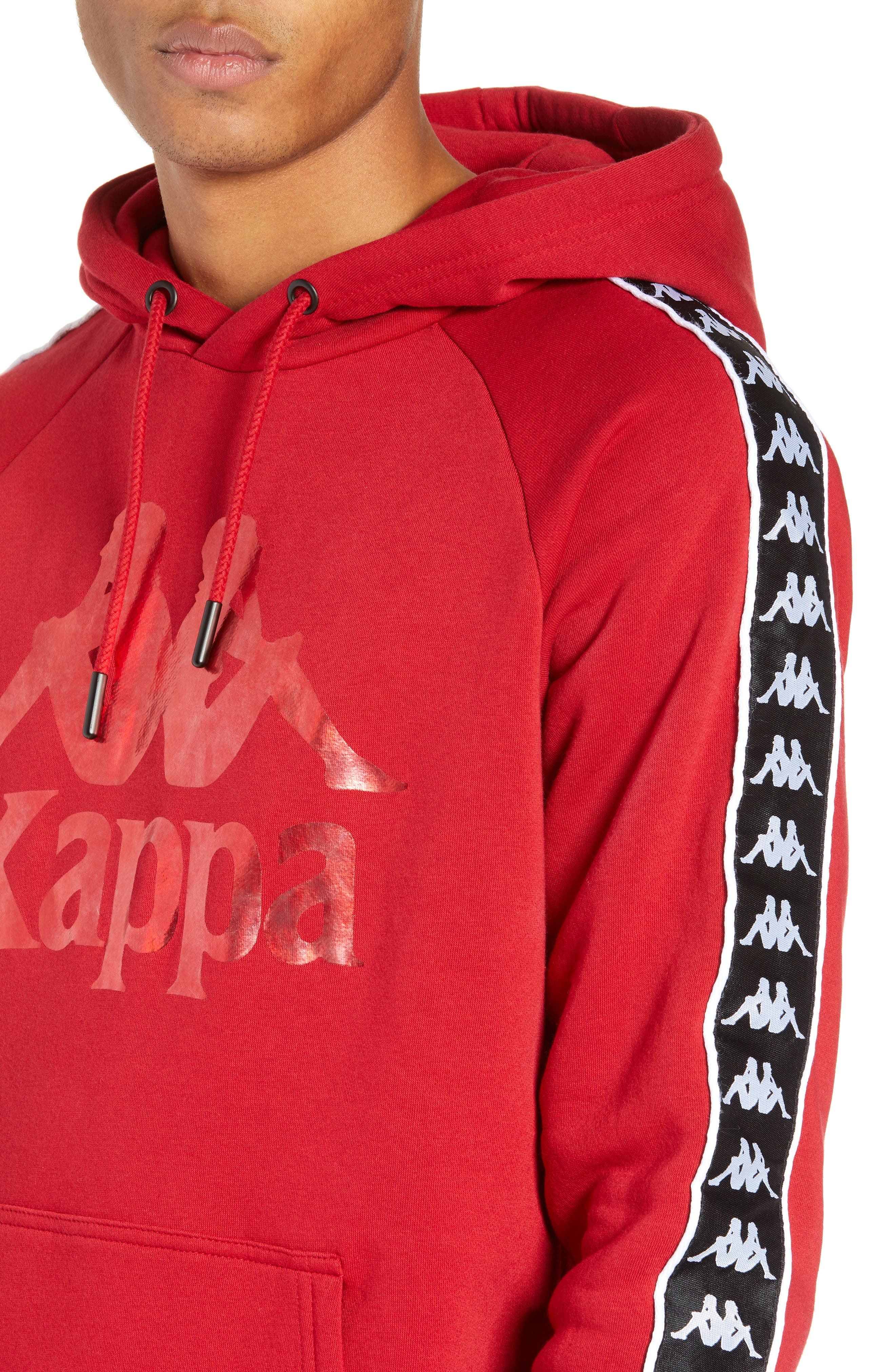 Banda Graphic Hoodie,                             Alternate thumbnail 4, color,                             RED/ BLACK/ WHITE