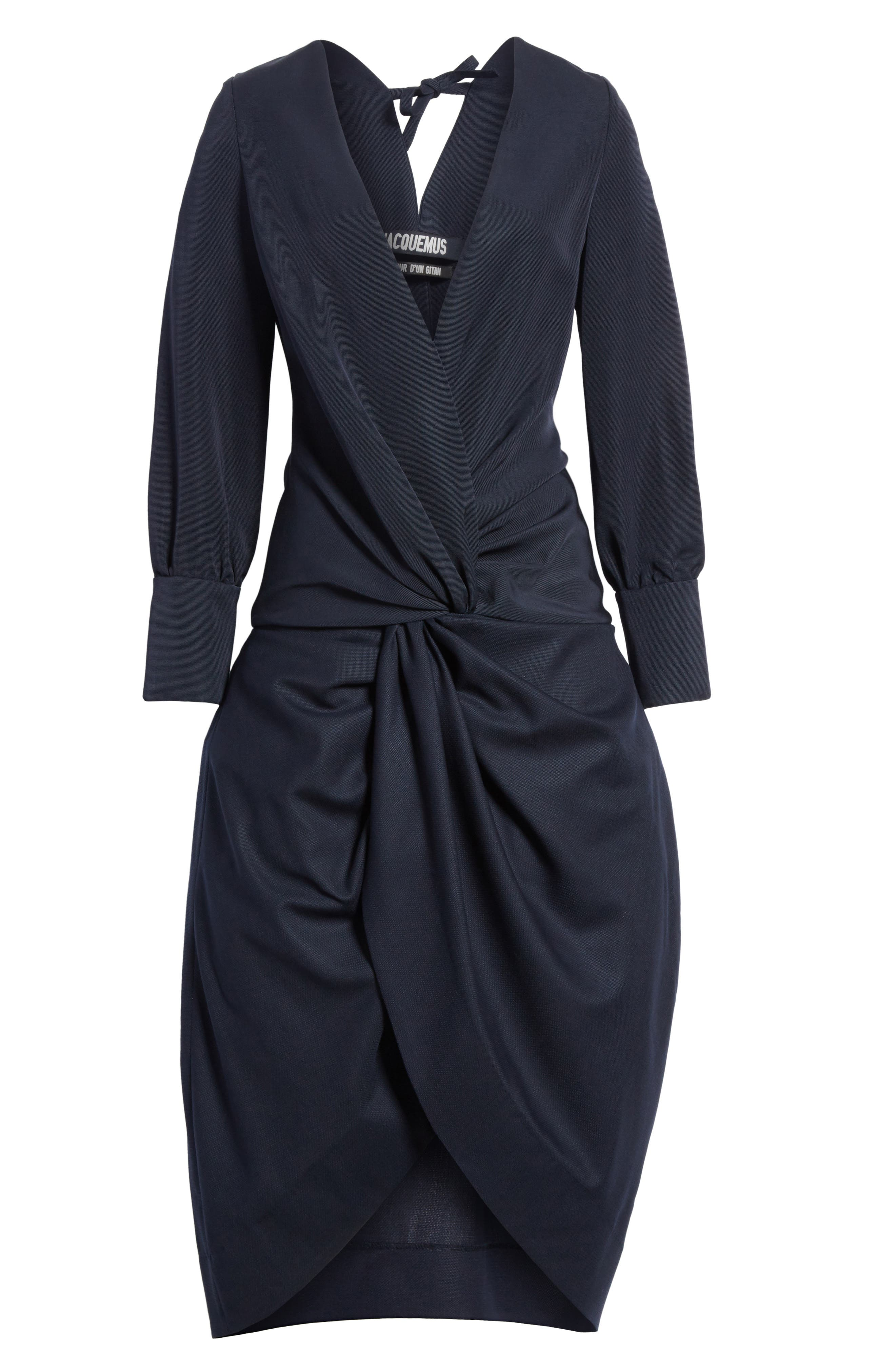 Ruched Long Sleeve Dress,                             Alternate thumbnail 6, color,                             410