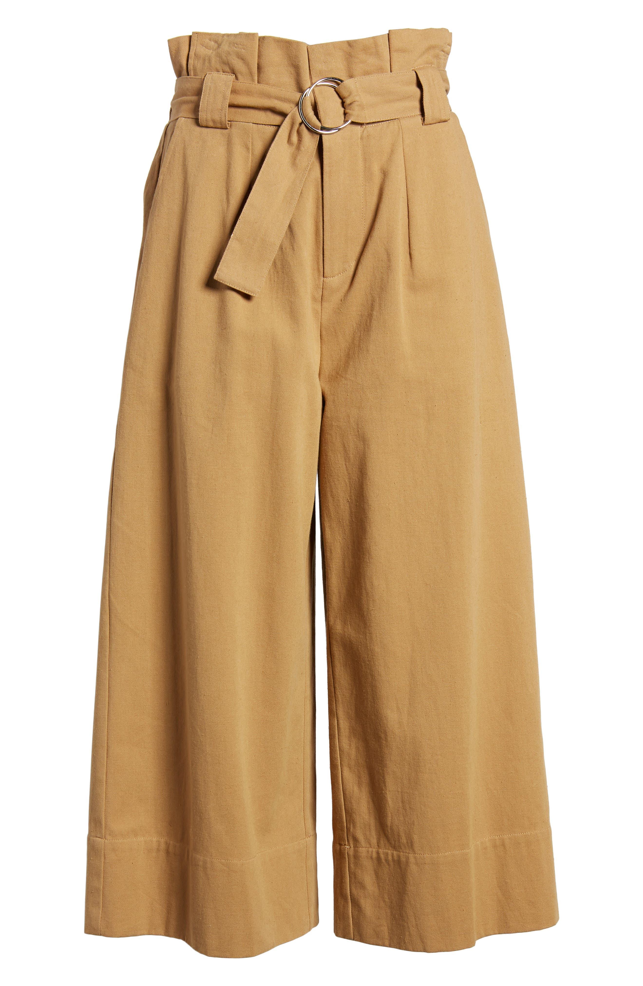 Paperbag Waist Crop Pants,                             Alternate thumbnail 6, color,                             250