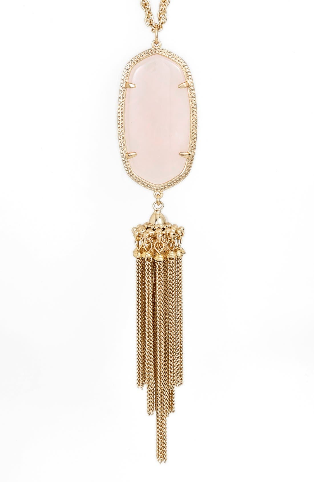 Rayne Stone Tassel Pendant Necklace,                             Alternate thumbnail 93, color,