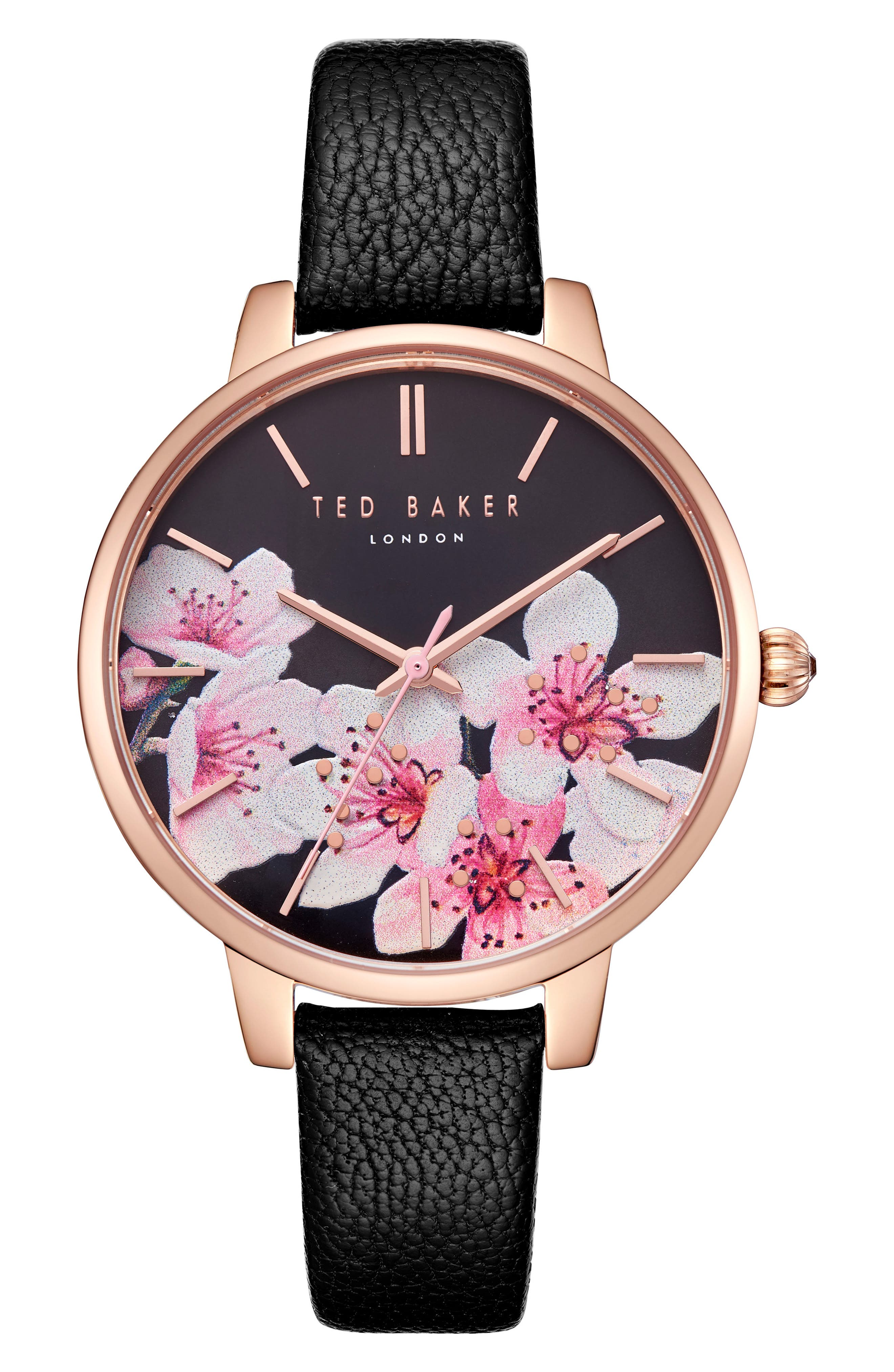 Kate Leather Strap Watch, 38mm,                         Main,                         color, 001