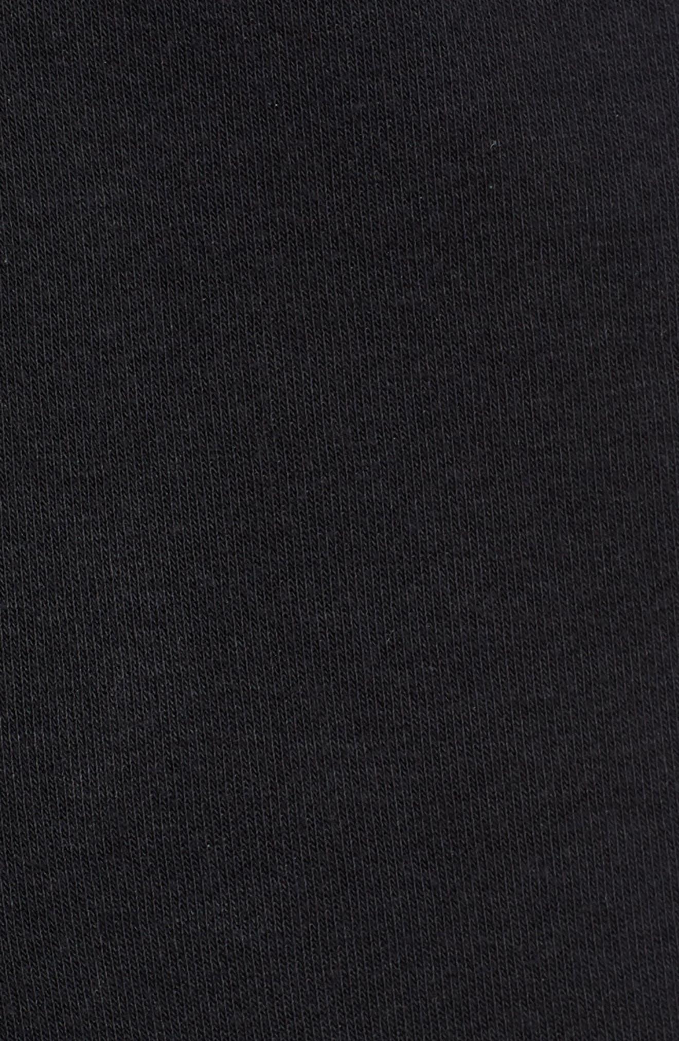 Heritage Knit Shorts,                             Alternate thumbnail 5, color,                             BLACK/ SAIL