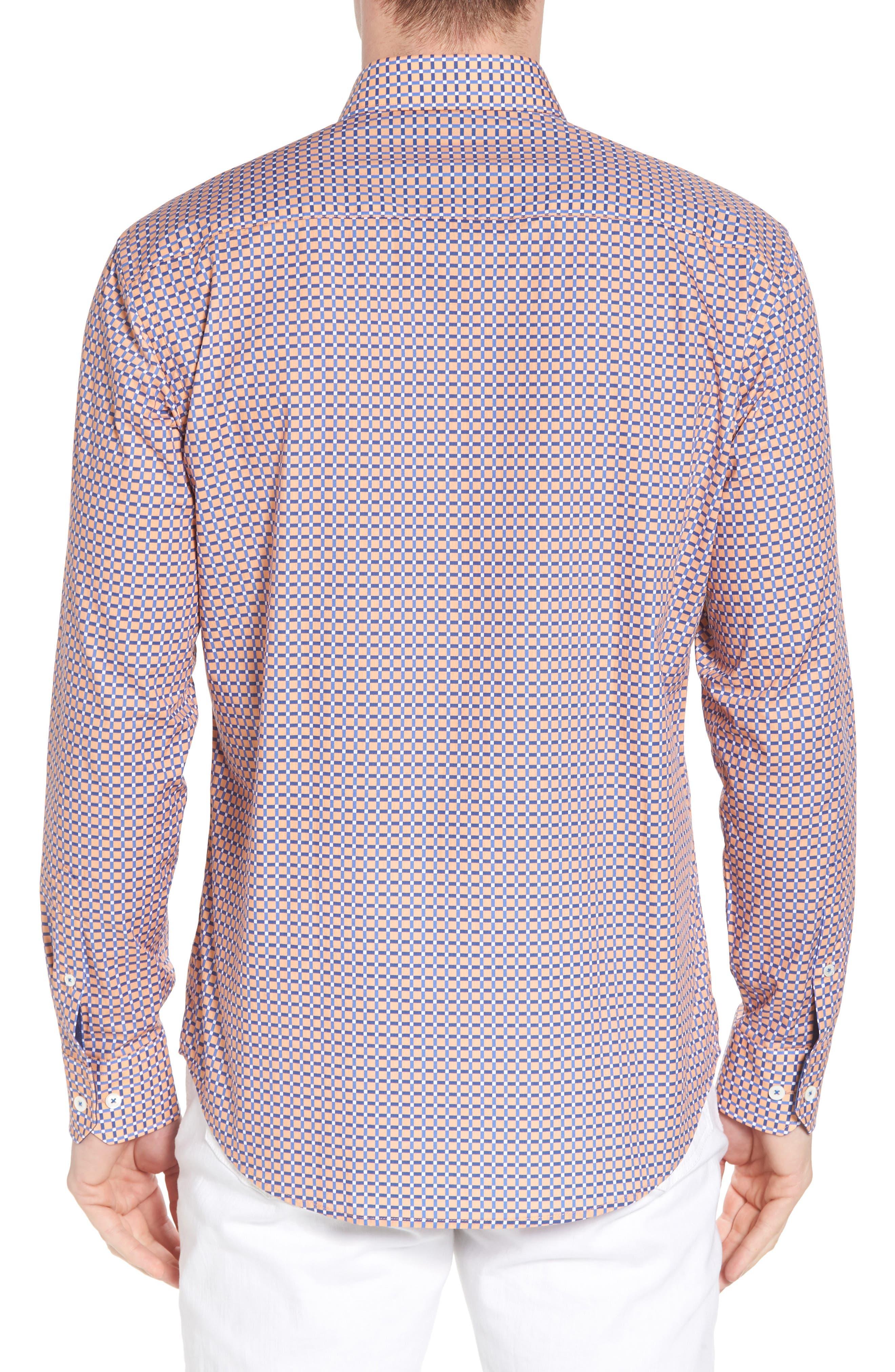 Shaped Fit Print Sport Shirt,                             Alternate thumbnail 10, color,