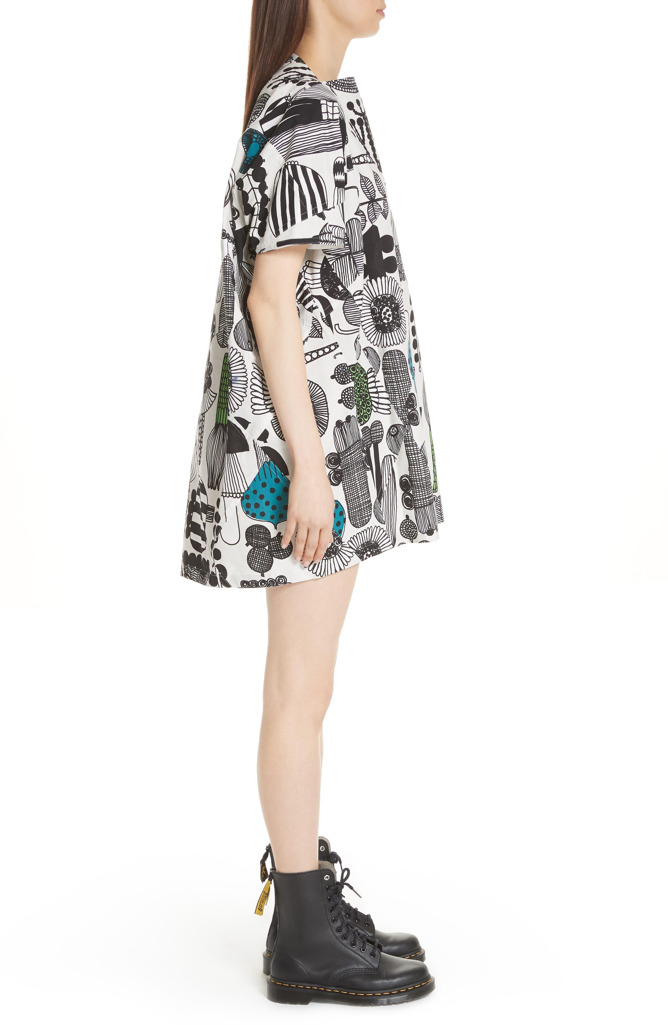 Vegetable Print Dress,                             Alternate thumbnail 3, color,