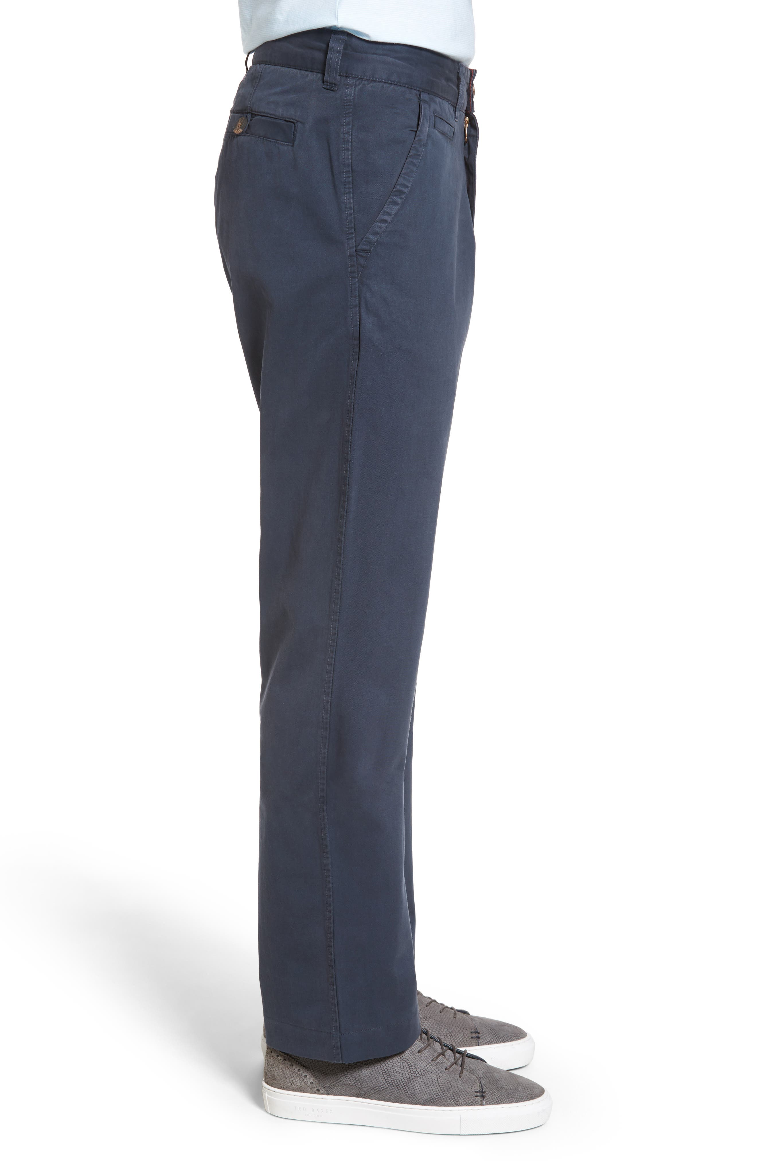 Classic Fit Military Chinos,                             Alternate thumbnail 3, color,                             NAVY