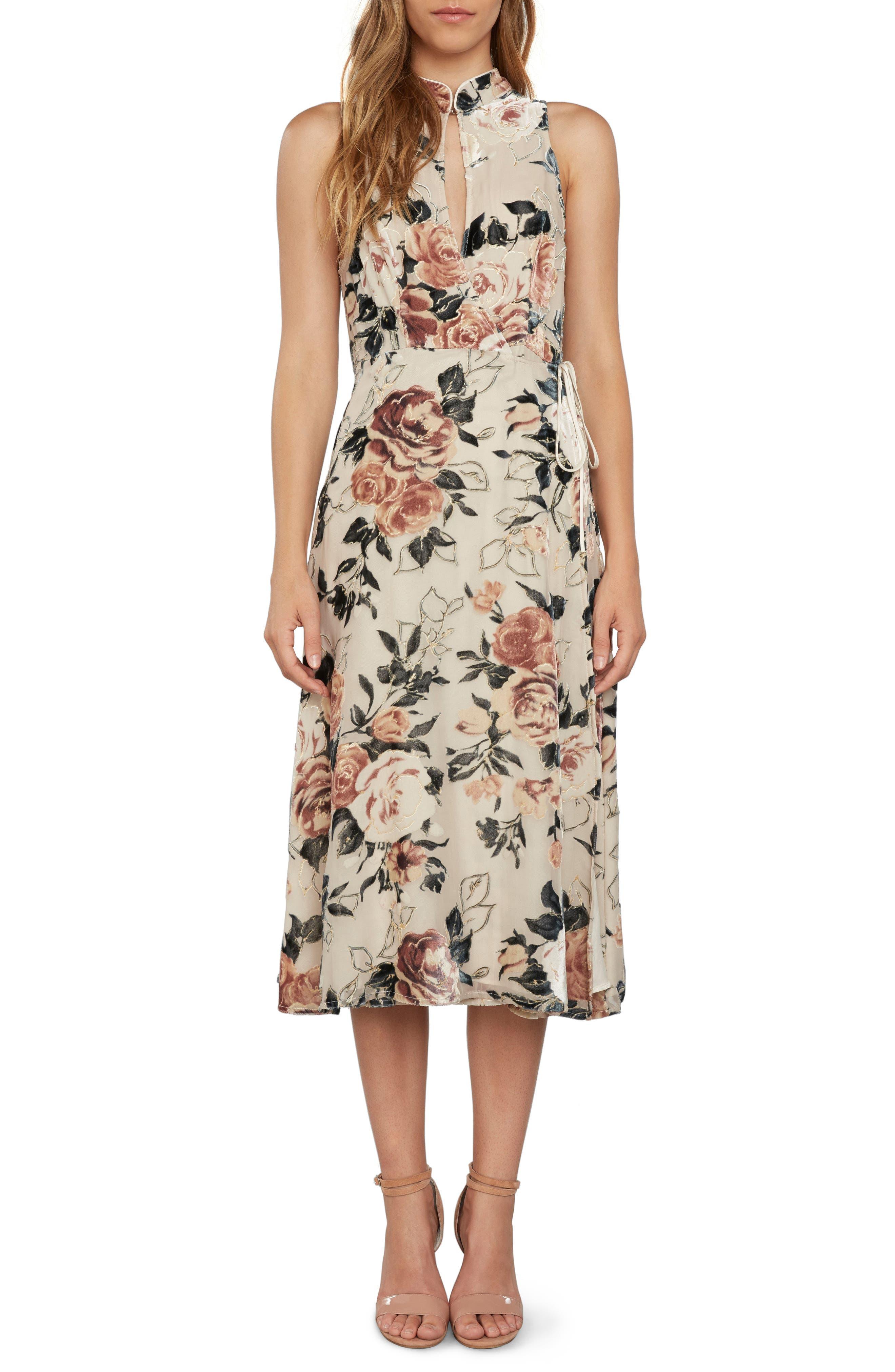 Wrap Midi Dress,                             Main thumbnail 1, color,                             901