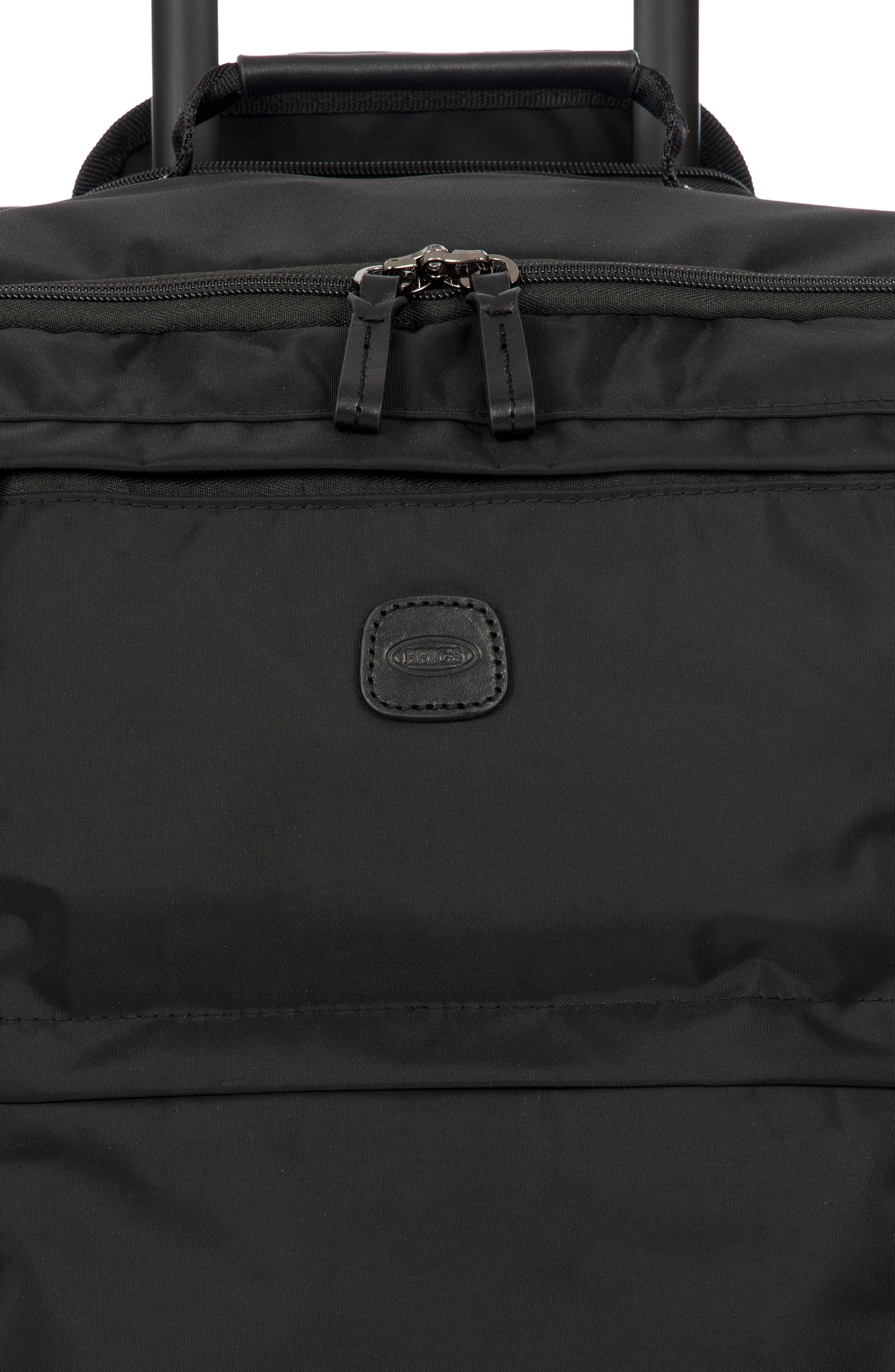 X-Bag 25-Inch Spinner Suitcase,                             Alternate thumbnail 5, color,                             BLACK/ BLACK
