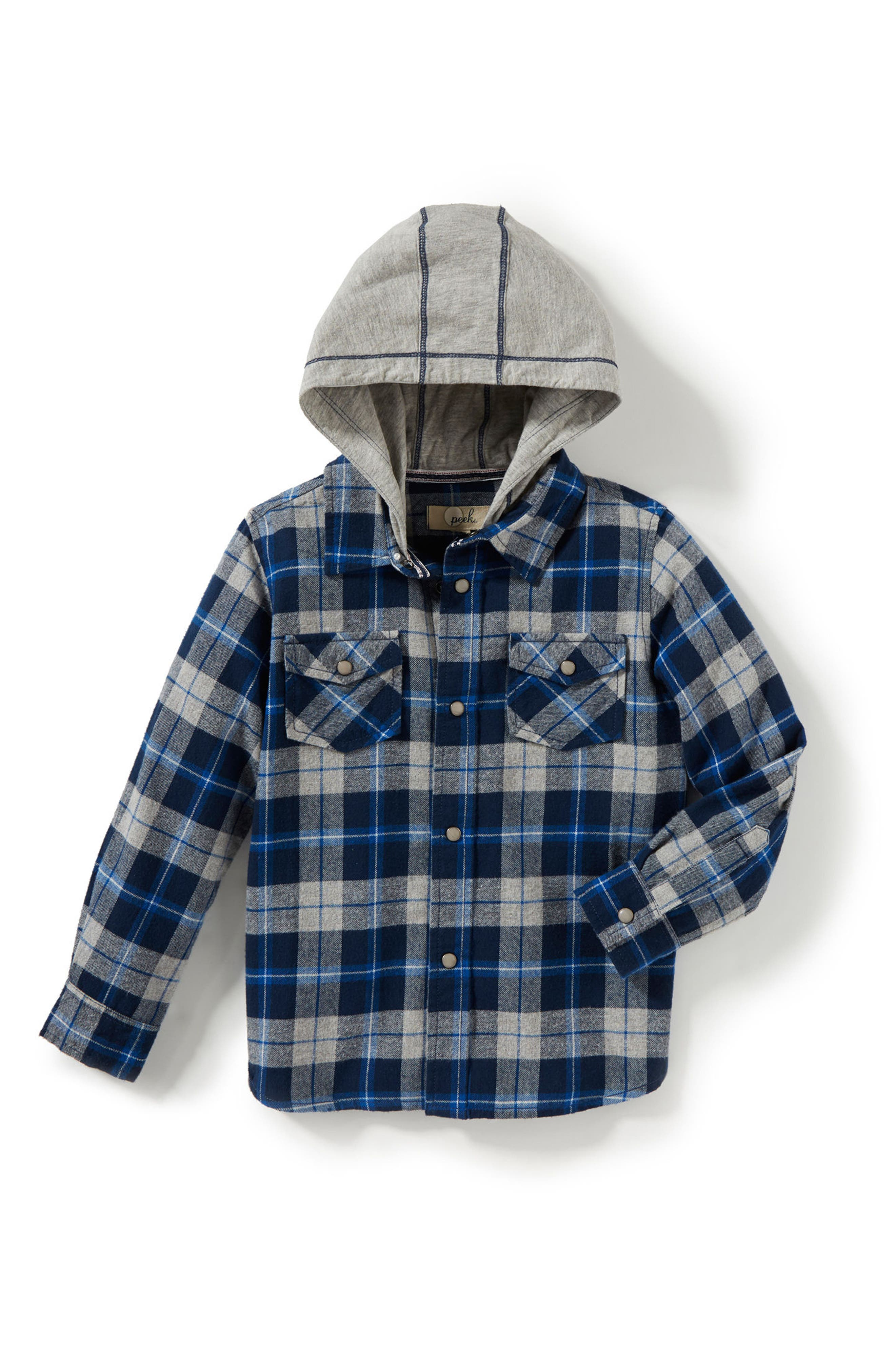 Liam Hooded Flannel Shirt,                             Alternate thumbnail 2, color,                             020